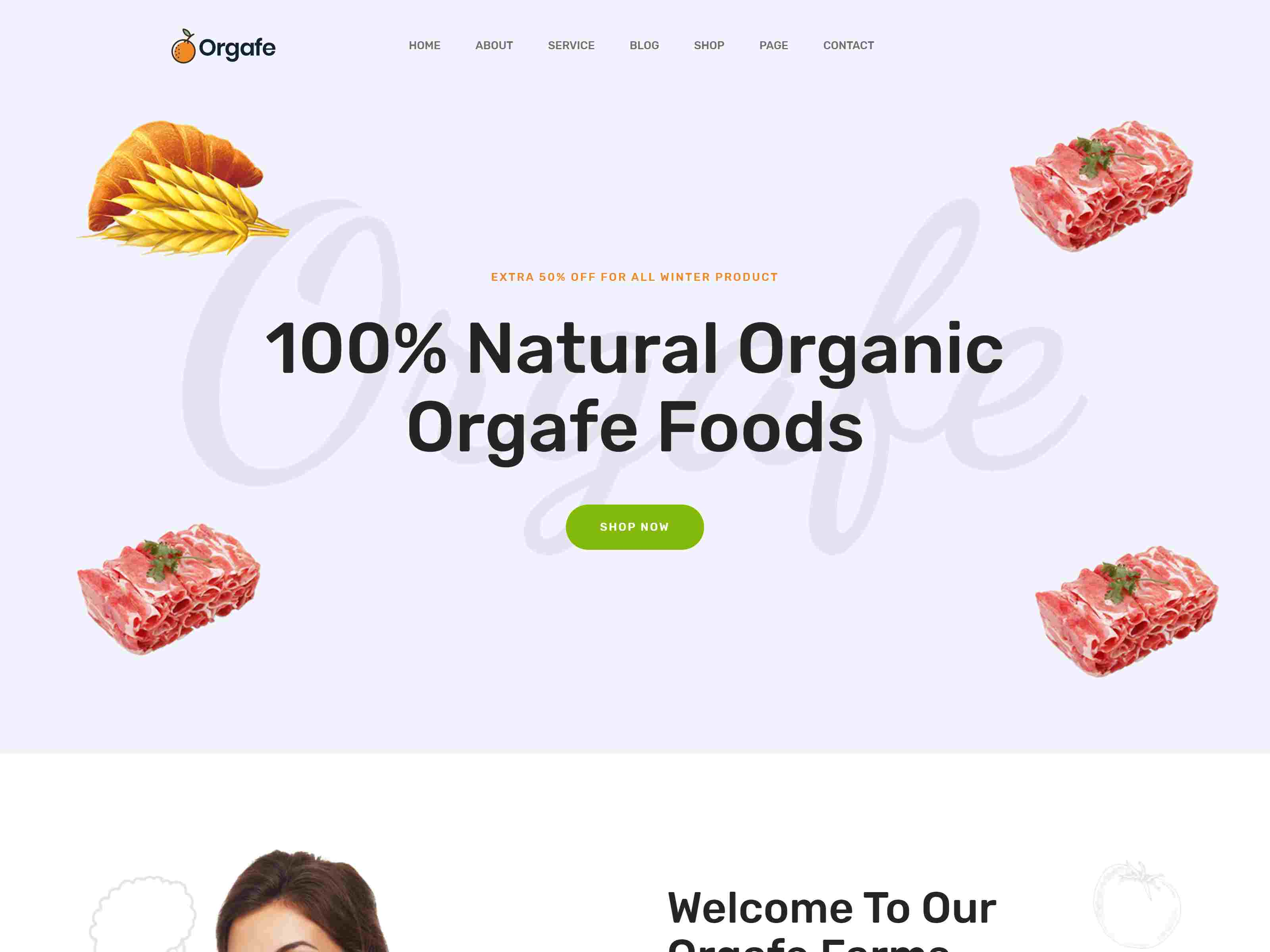 Orgafe - Organic Food WordPress Theme