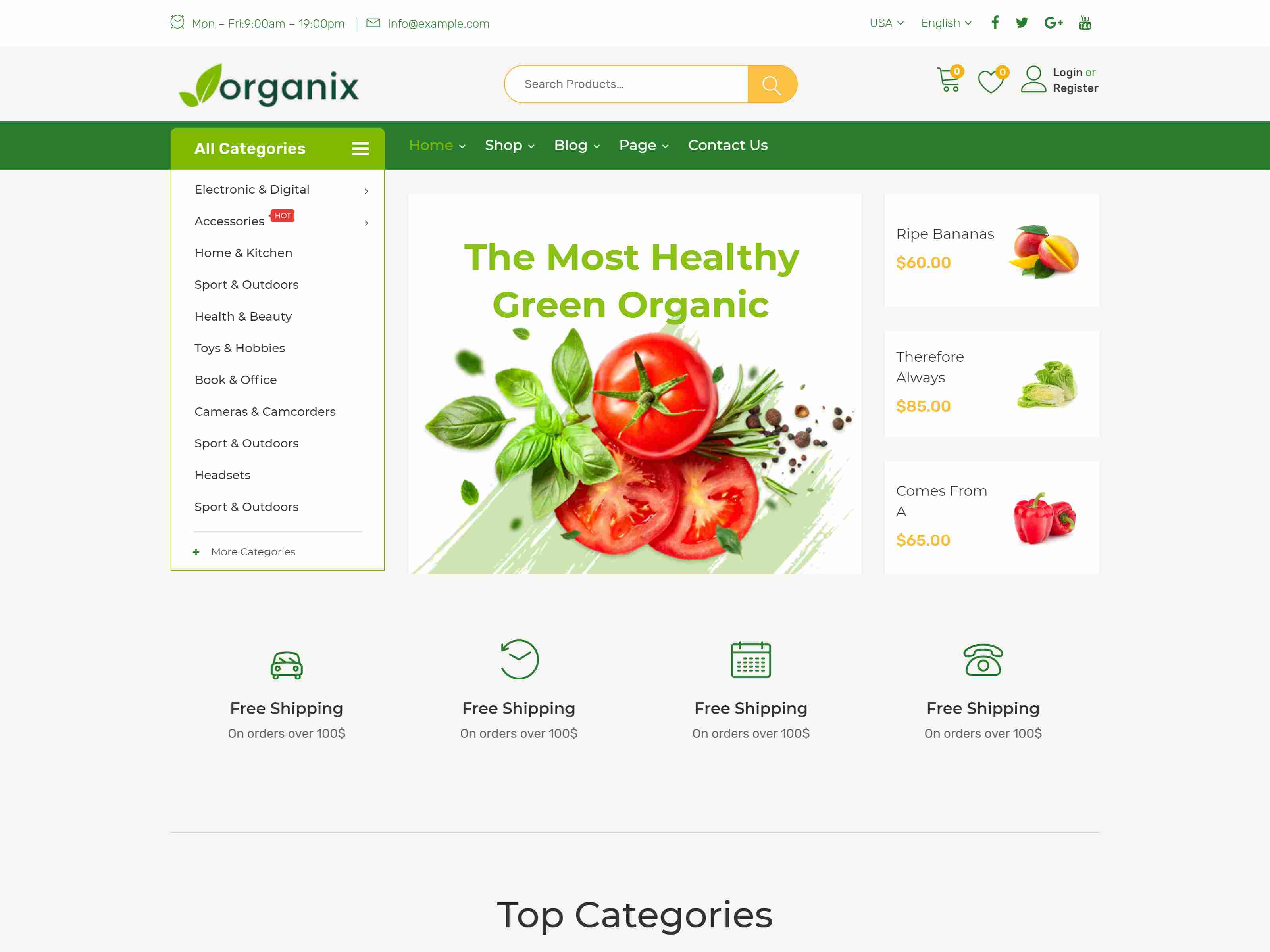 Organix - Organic Food WooCommerce WordPress Theme Organic WordPress Themes