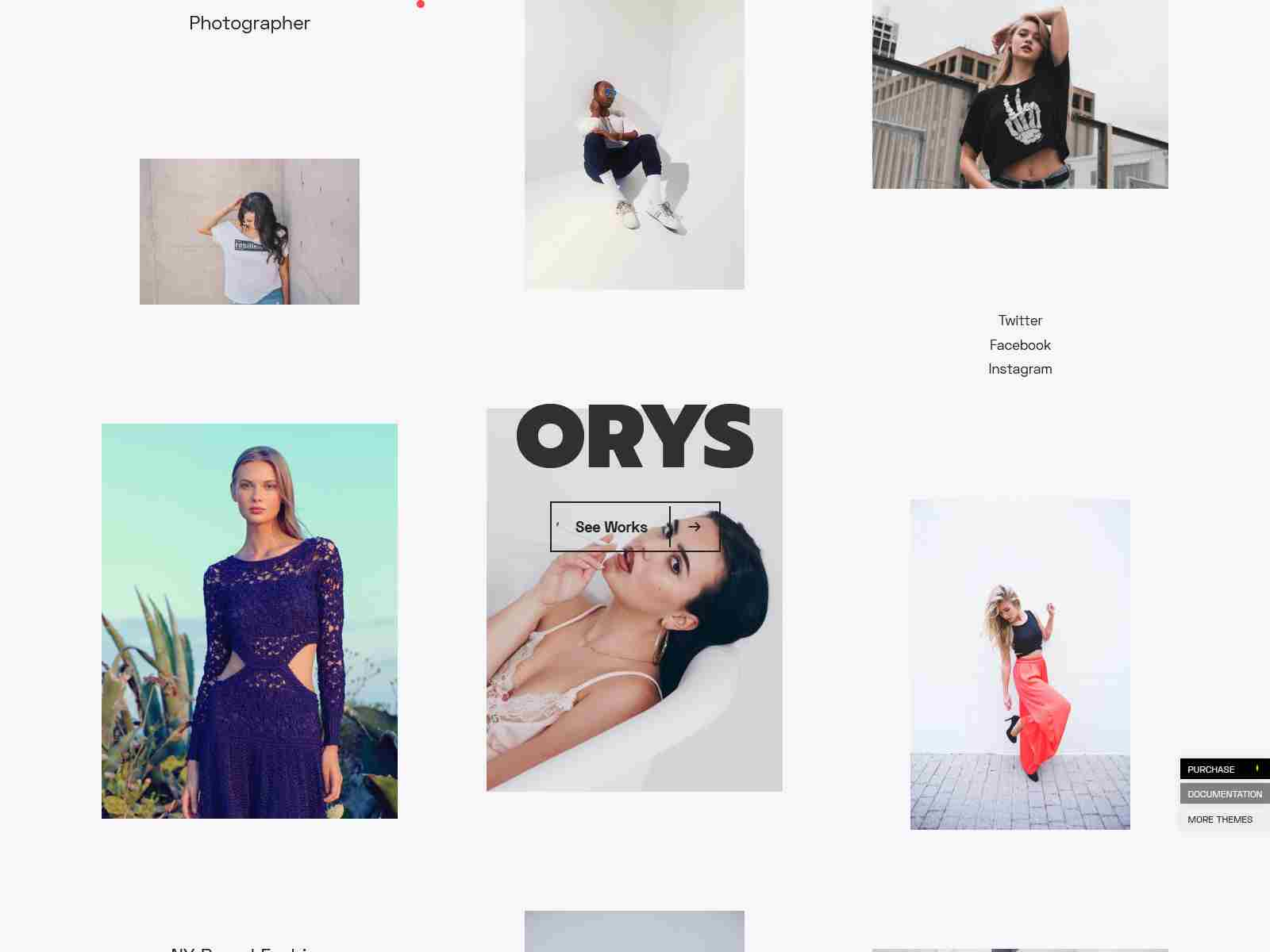 Orys - Creative Photography Theme