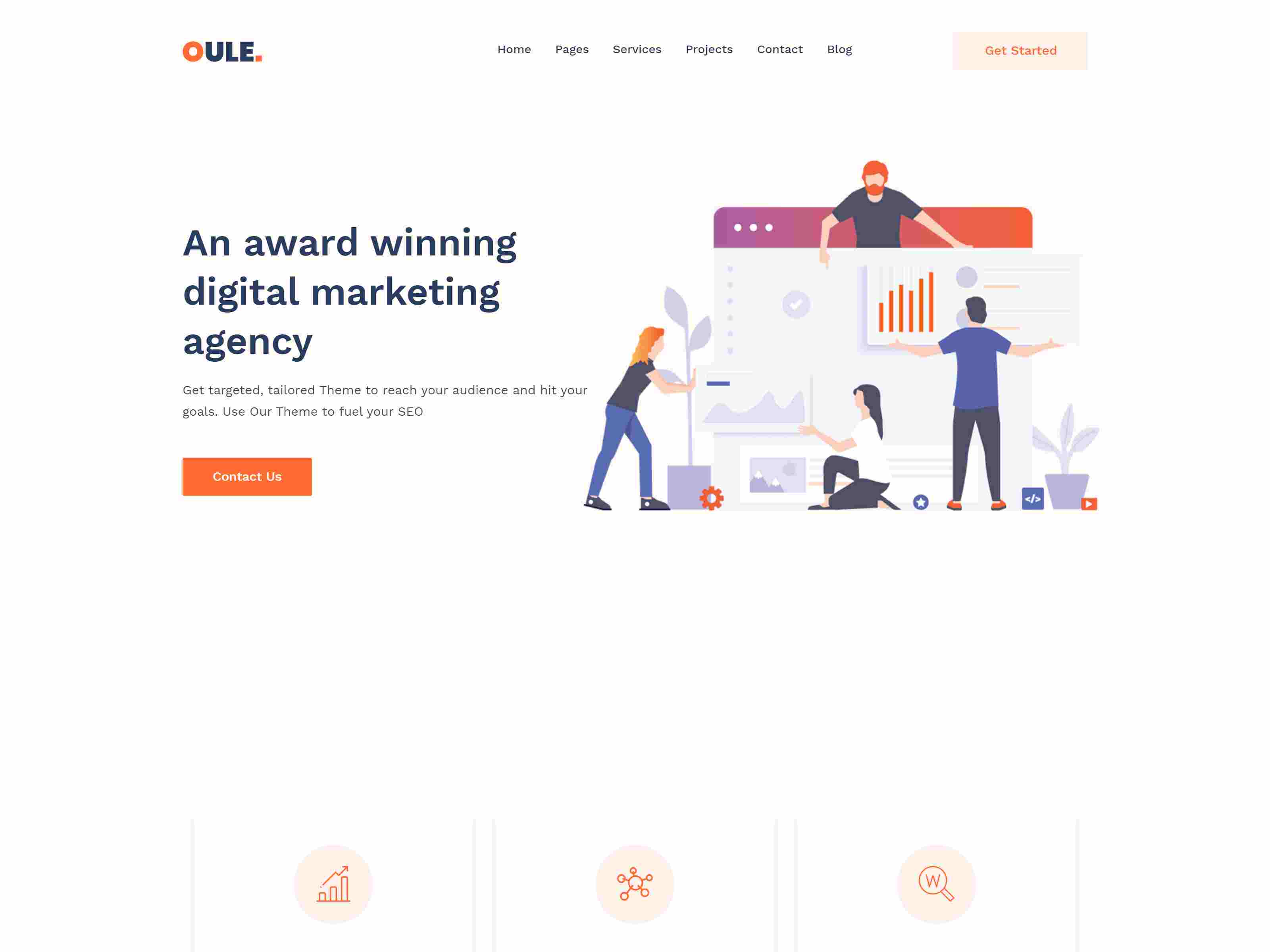 Oule – SEO and Digital Marketing Agency WordPress Theme