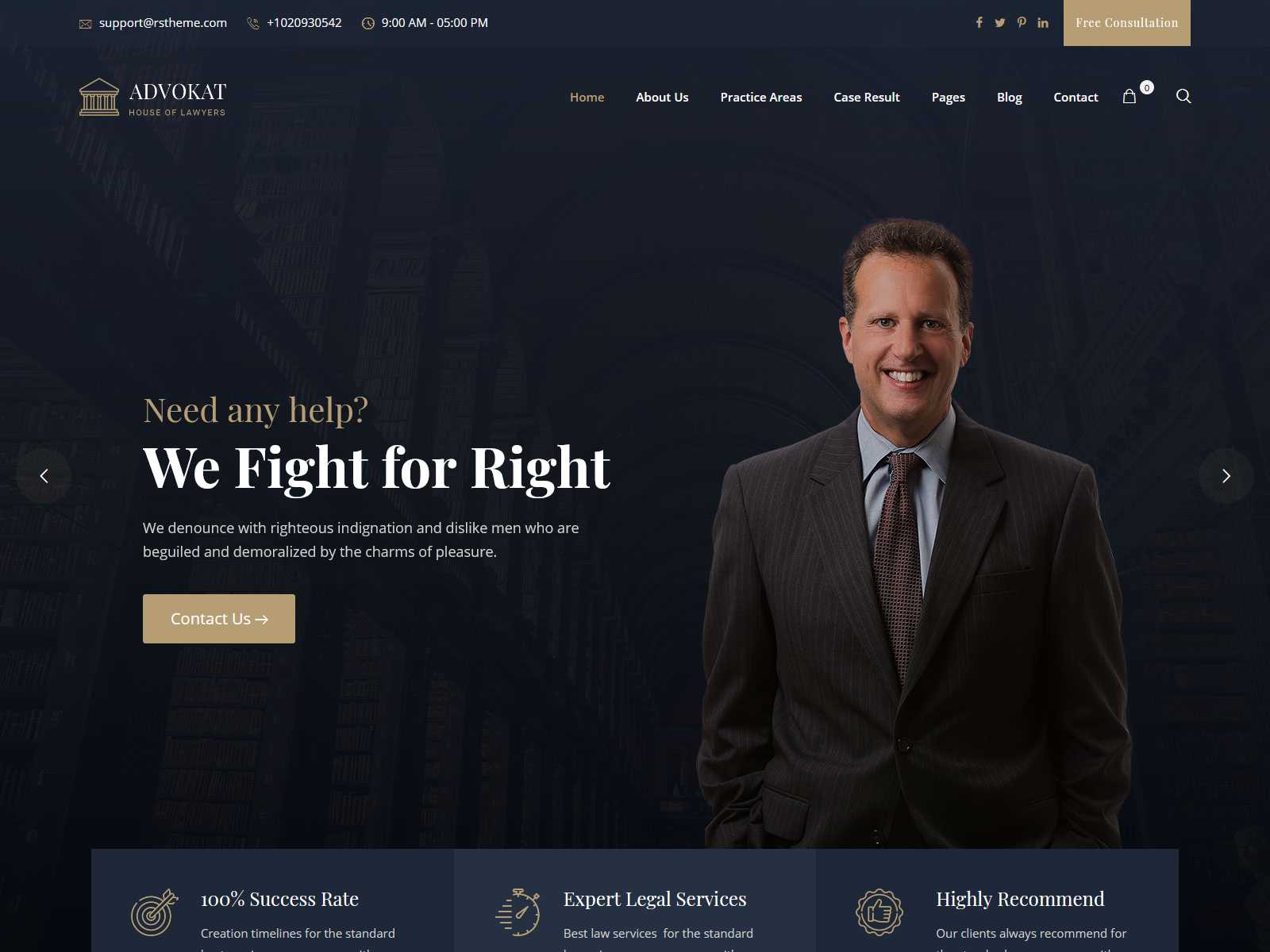 Best Lawyer WordPress Themes  - Premium Law WordPress Theme