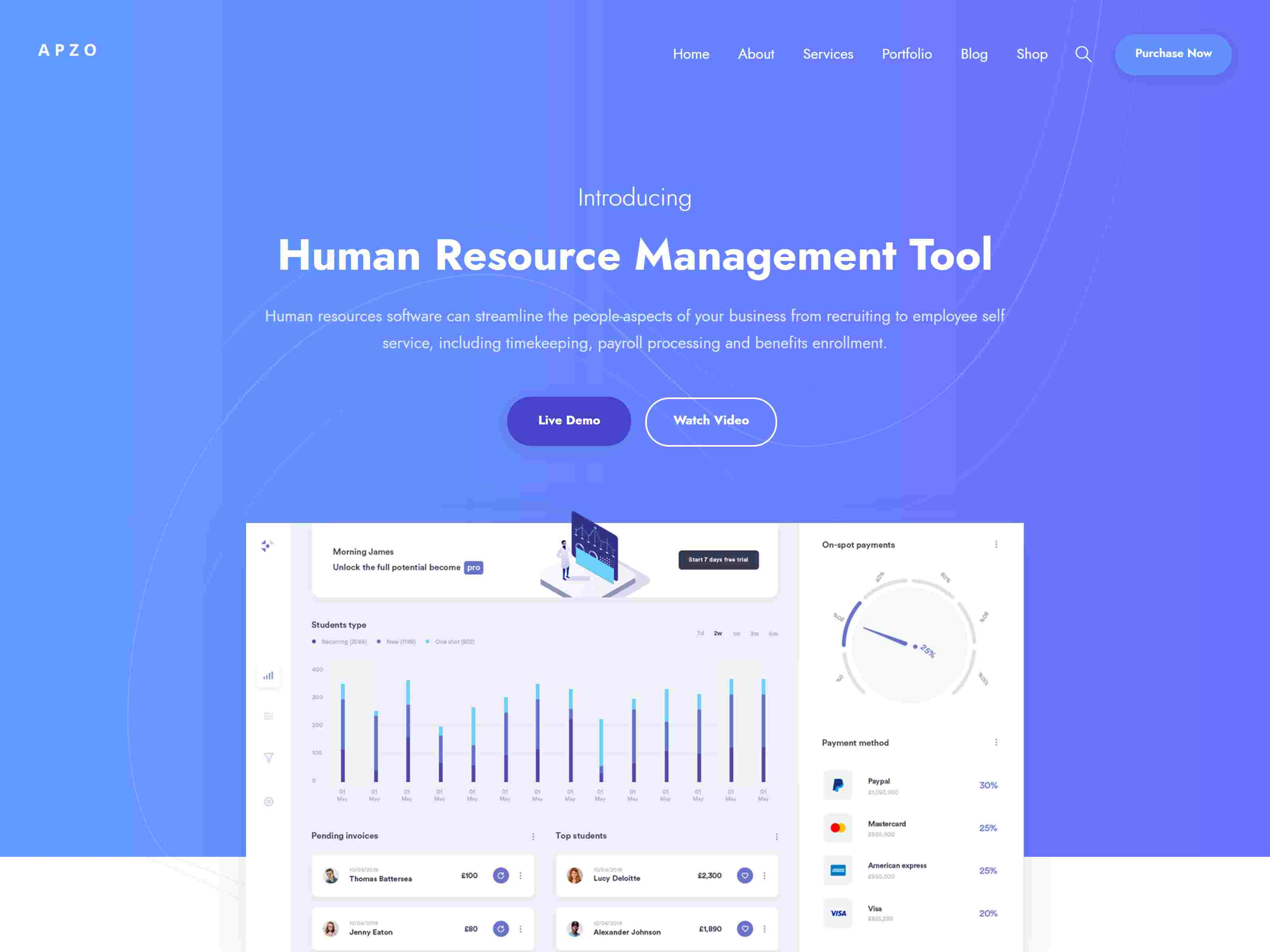 Apzo - Software App Saas WordPress software themes, mobile app wordpress themes
