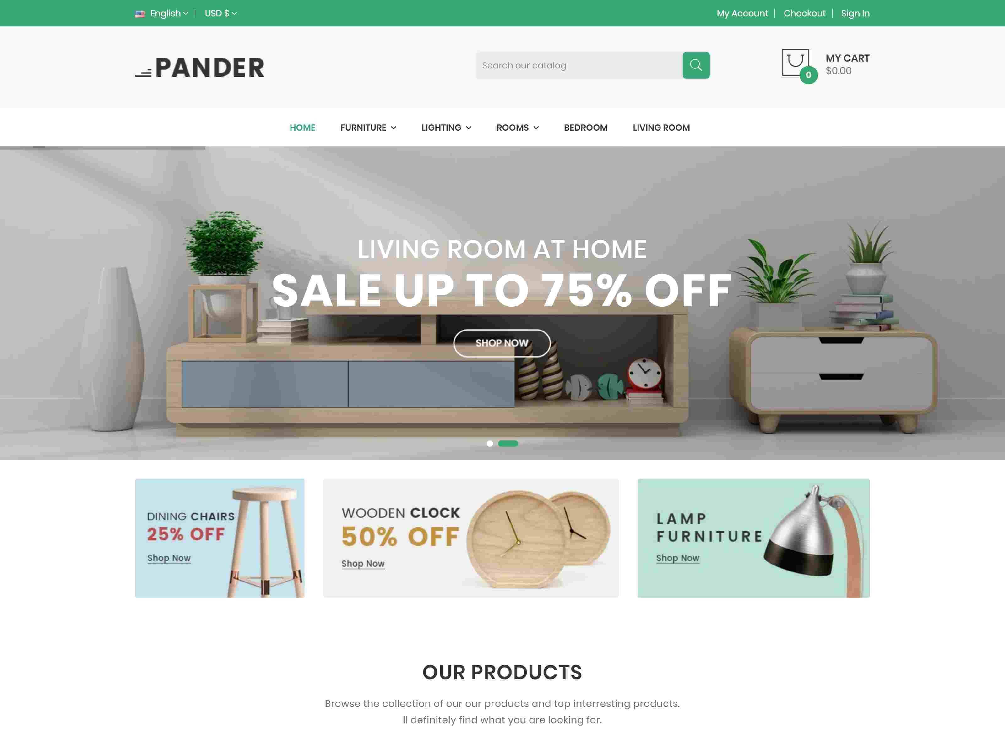 Pander - Furniture Responsive PrestaShop Theme