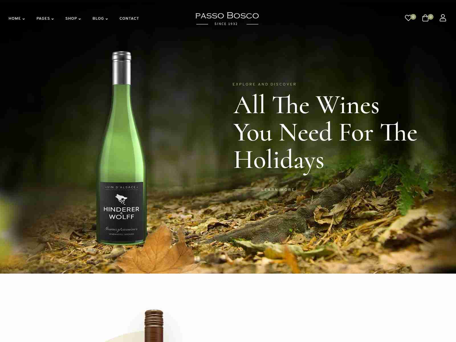 Passo Bosco - Wine & Vineyard WordPress Theme