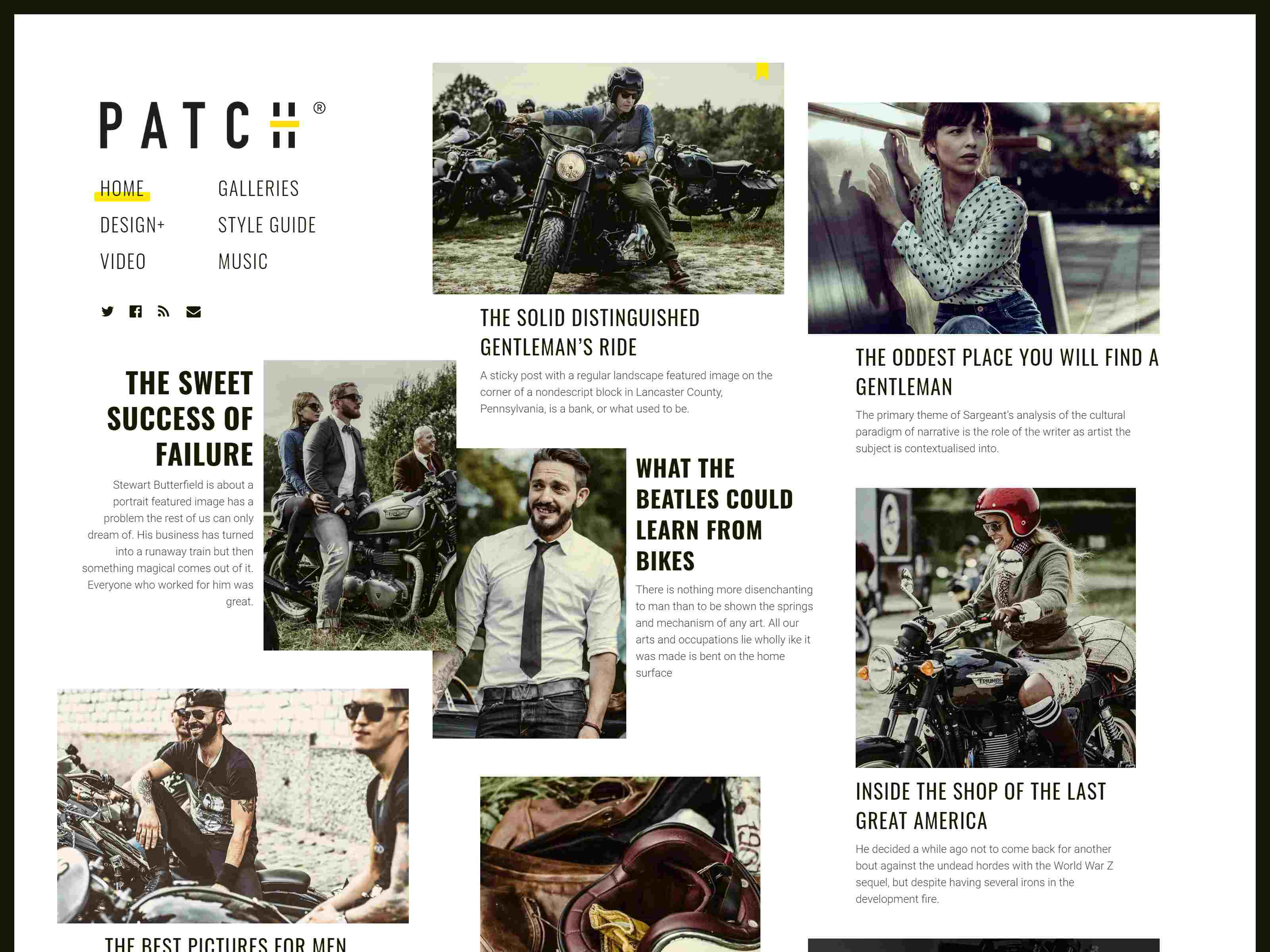Patch - Unconventional Newspaper-Like Blog Theme wordpress news themes
