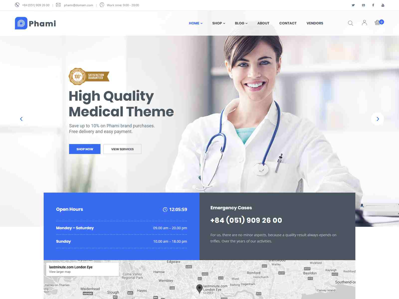 Phami – Medical & Health WooCommerce Theme