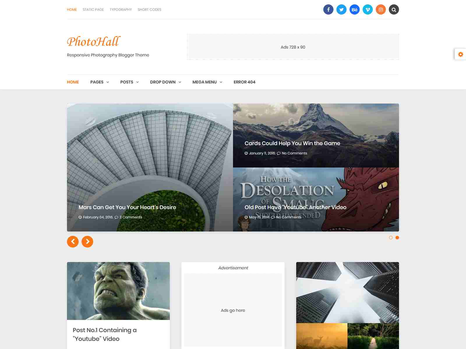 Best Premium Photography Blogger Themes