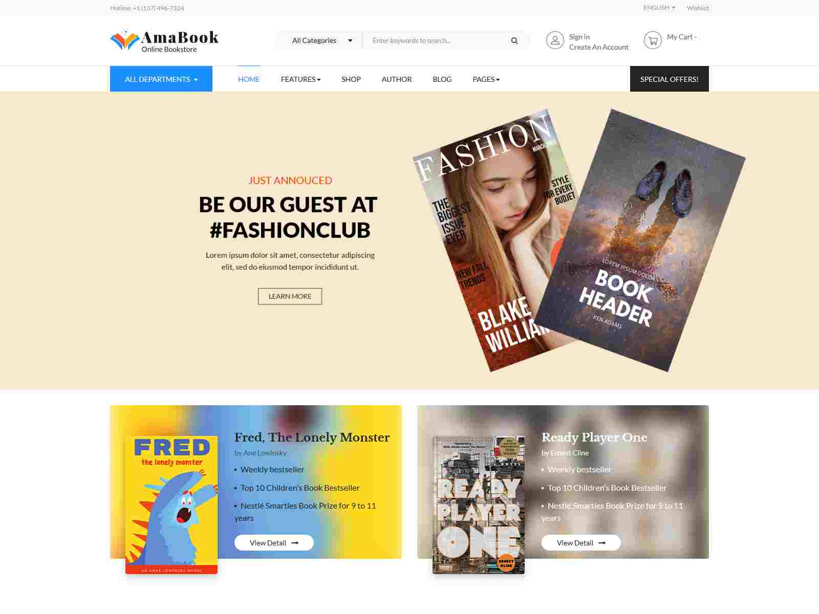 Best Premium Bookstore Magento Themes
