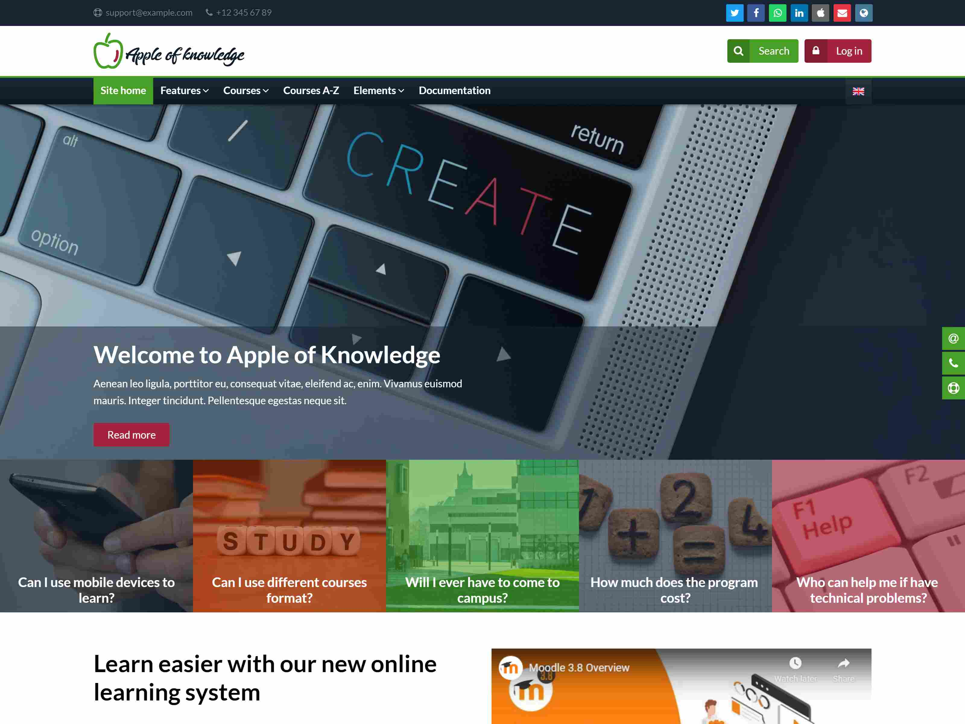 Apple of Knowledge | Premium Moodle Theme