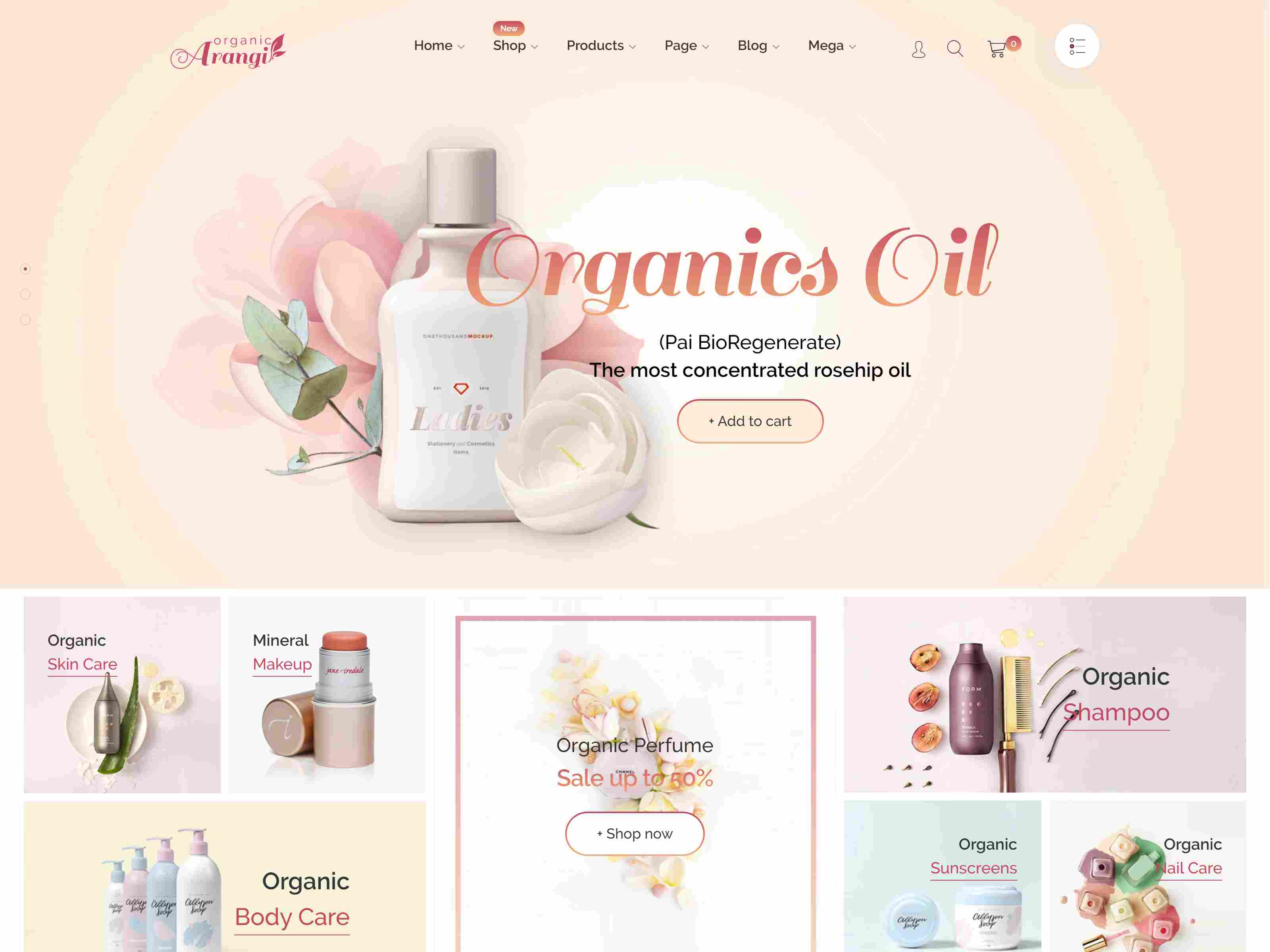 Arangi - Organic & Healthy Products Shopify Theme