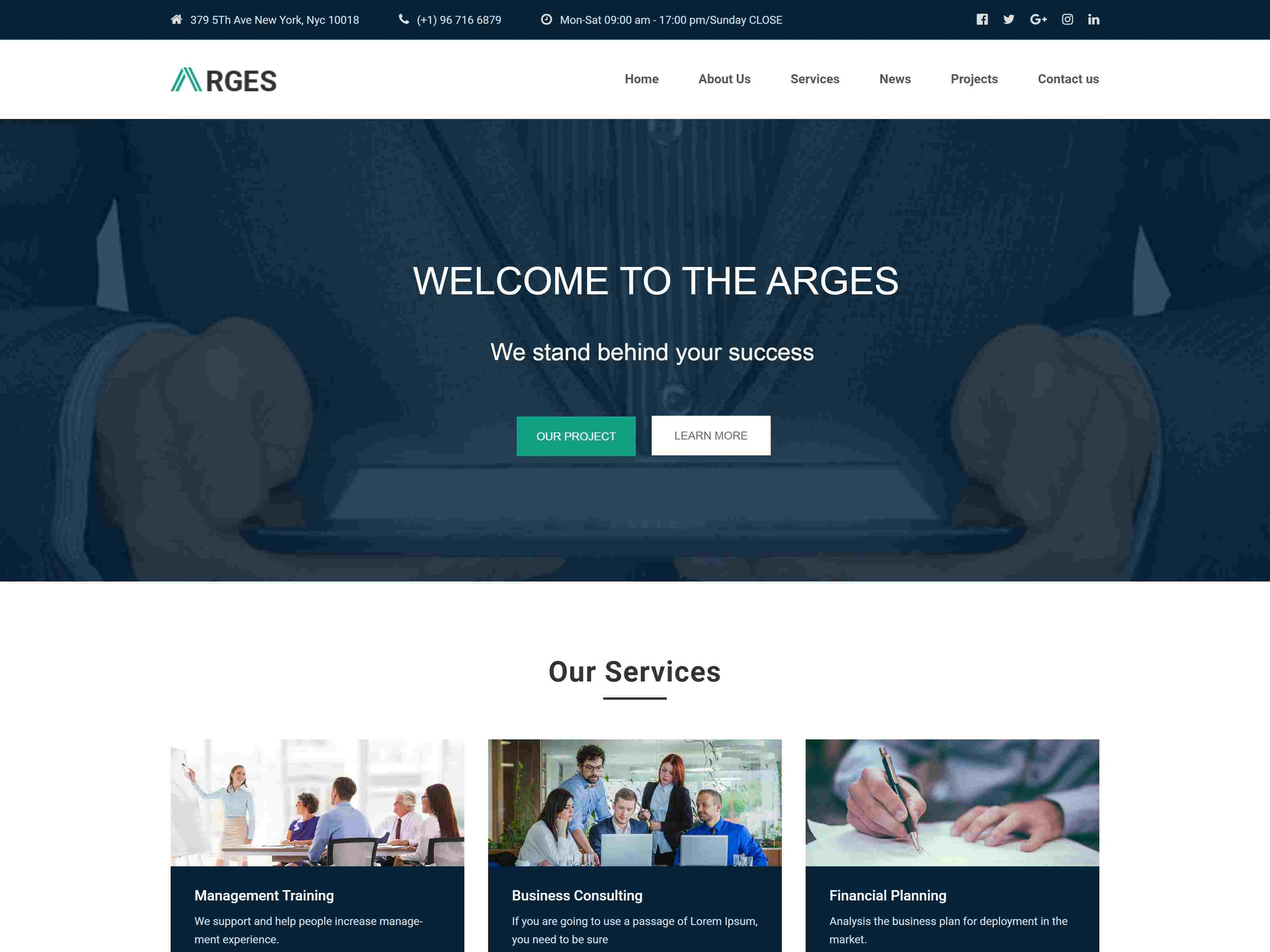 Arges - Corporate and Business Joomla Template