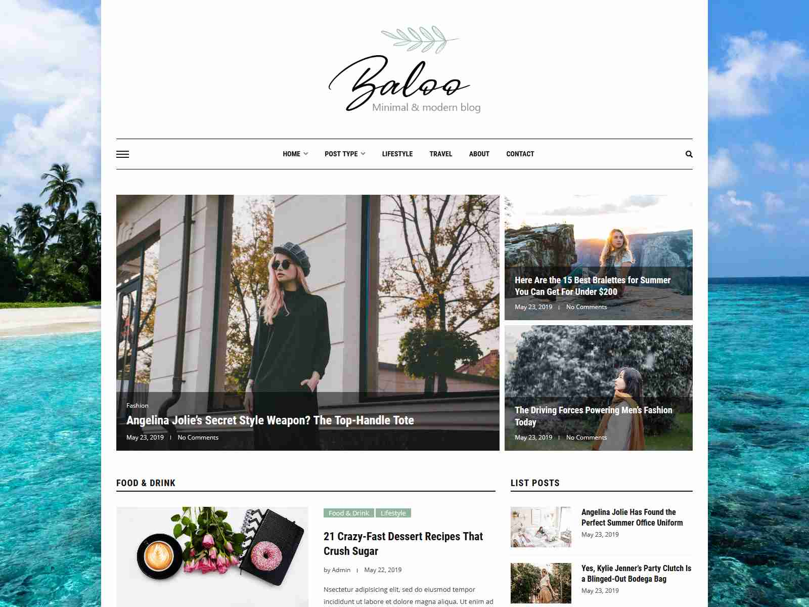 Baloo - Minimal & Modern Blog WordPress Theme