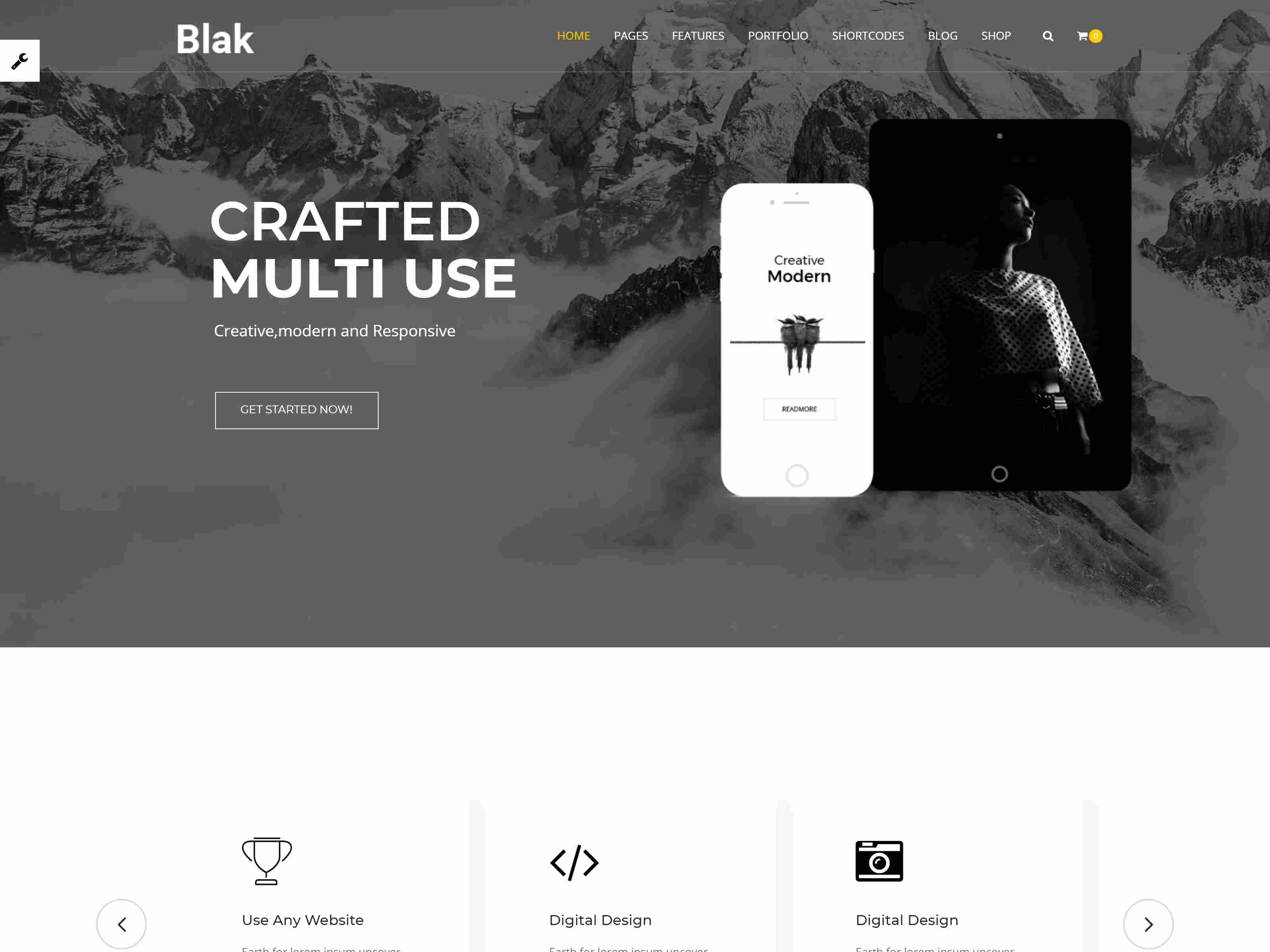 Blak - Responsive Multi-Purpose Drupal 8.8 Theme