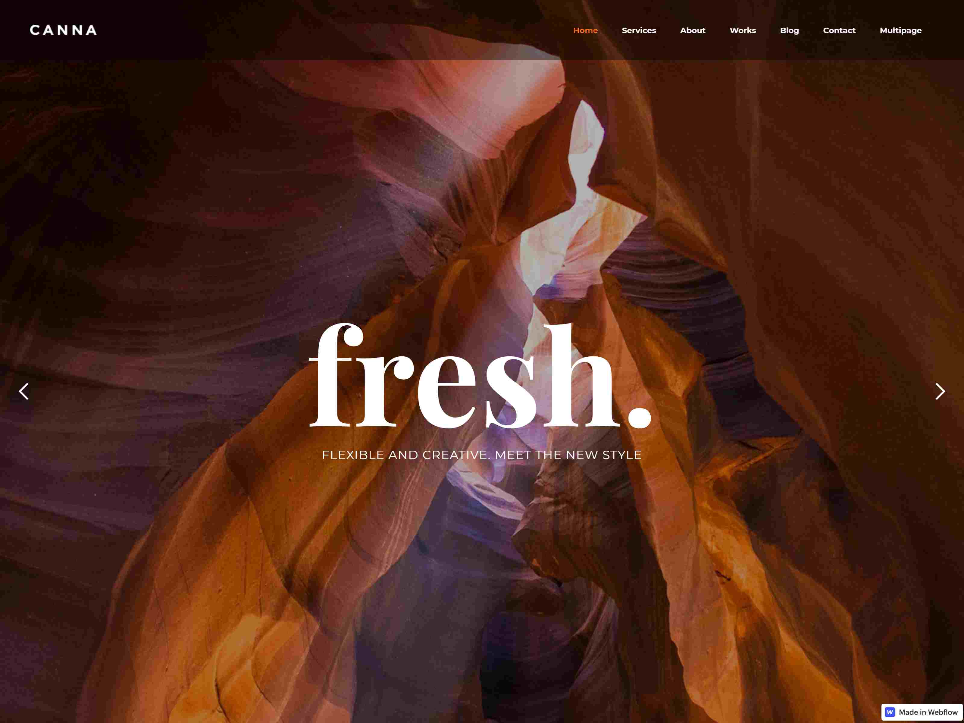 Canna | Multiuse Webflow Template With Page Builder