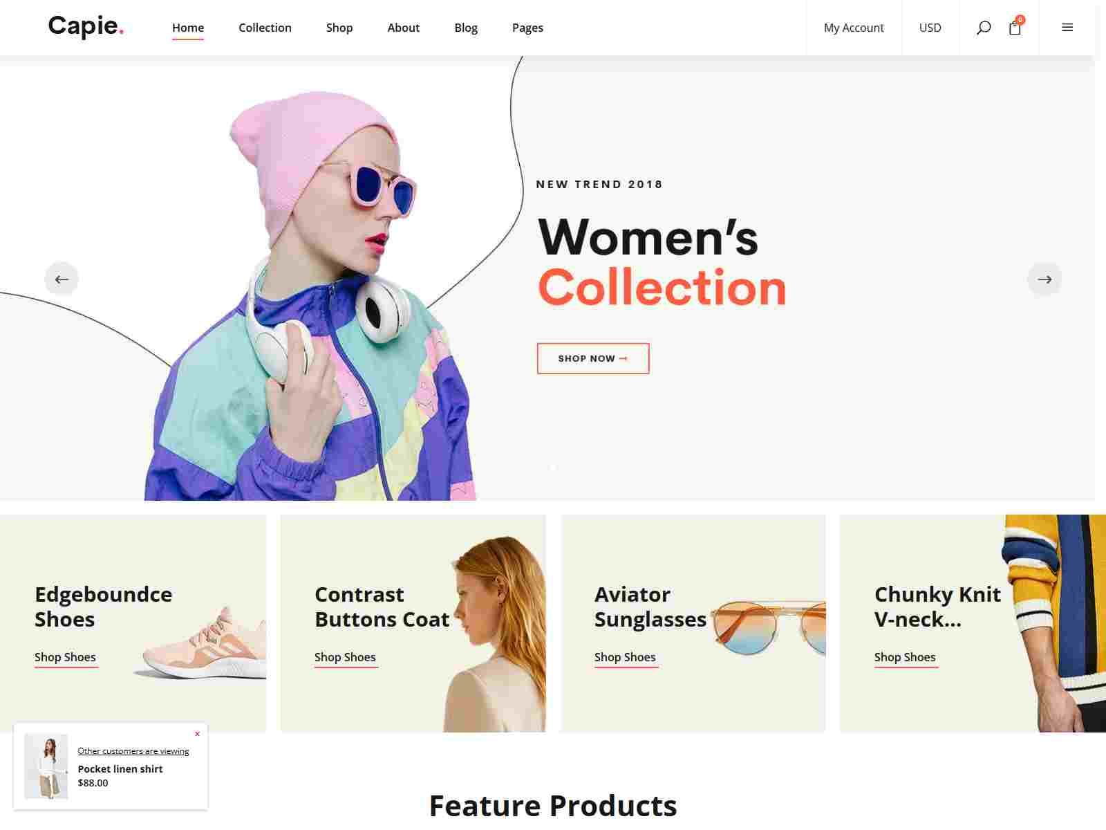 Capie - Fashion Shopify Theme - Mobile Optimized Sections Builder