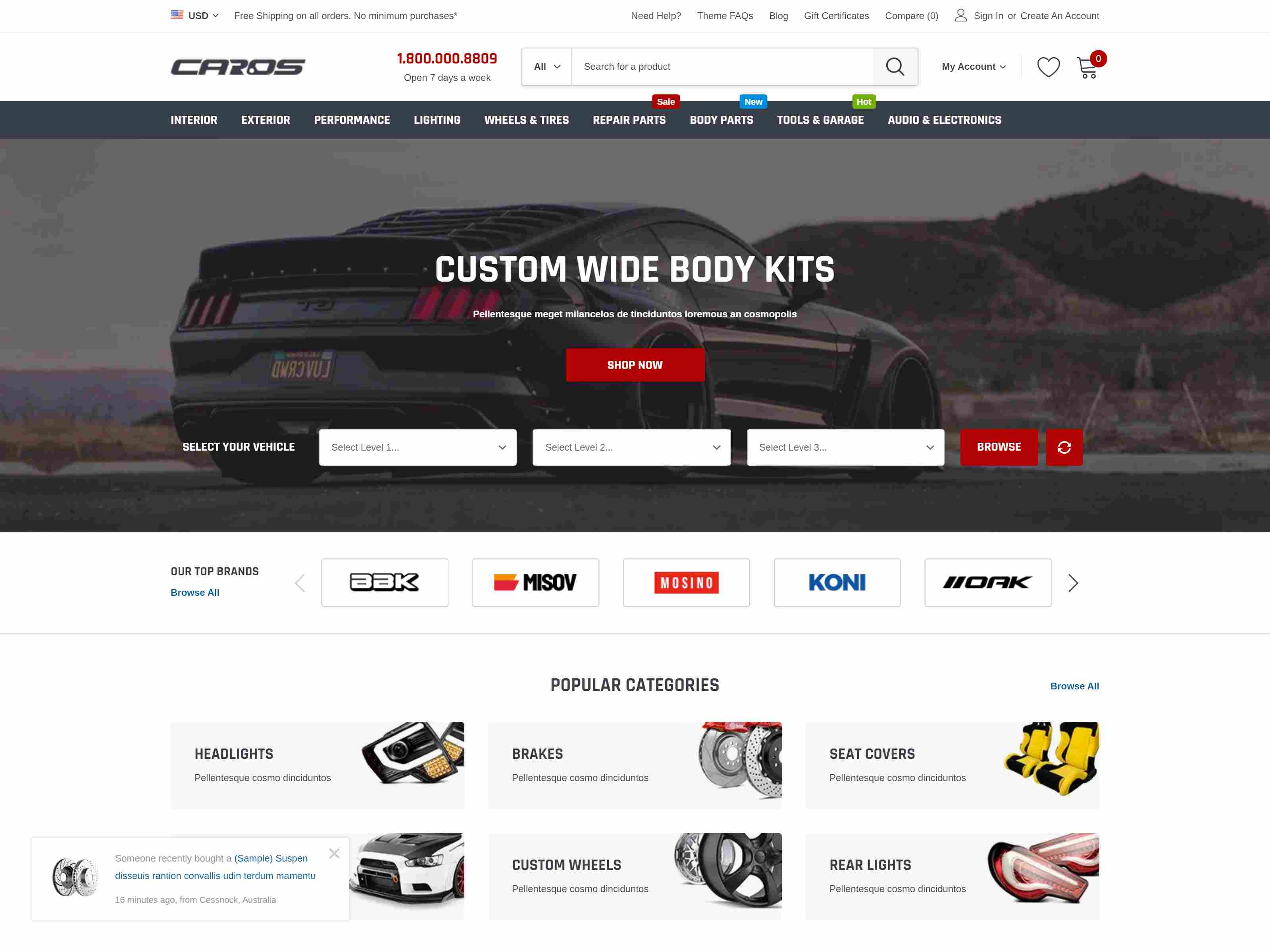 Best Premium Car BigCommerce Themes