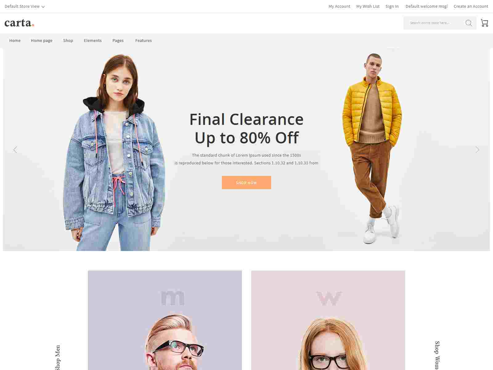 Carta - Clean, Responsive Magento 2 Fashion Theme