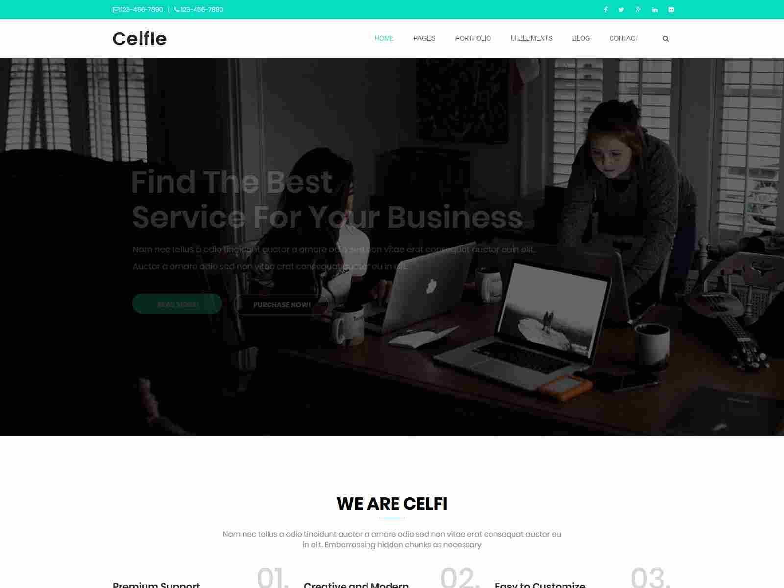 Celfie - Bootstrap 3x Multi-Purpose Drupal 8 Theme