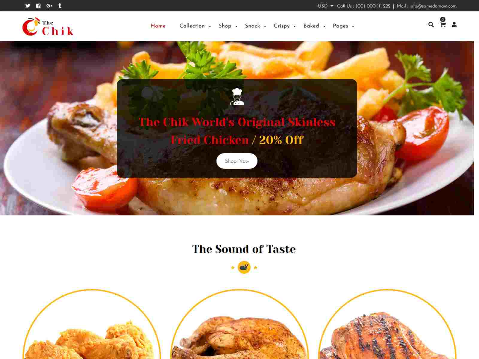 Chik | Food Shop, Restaurant Shopify Theme