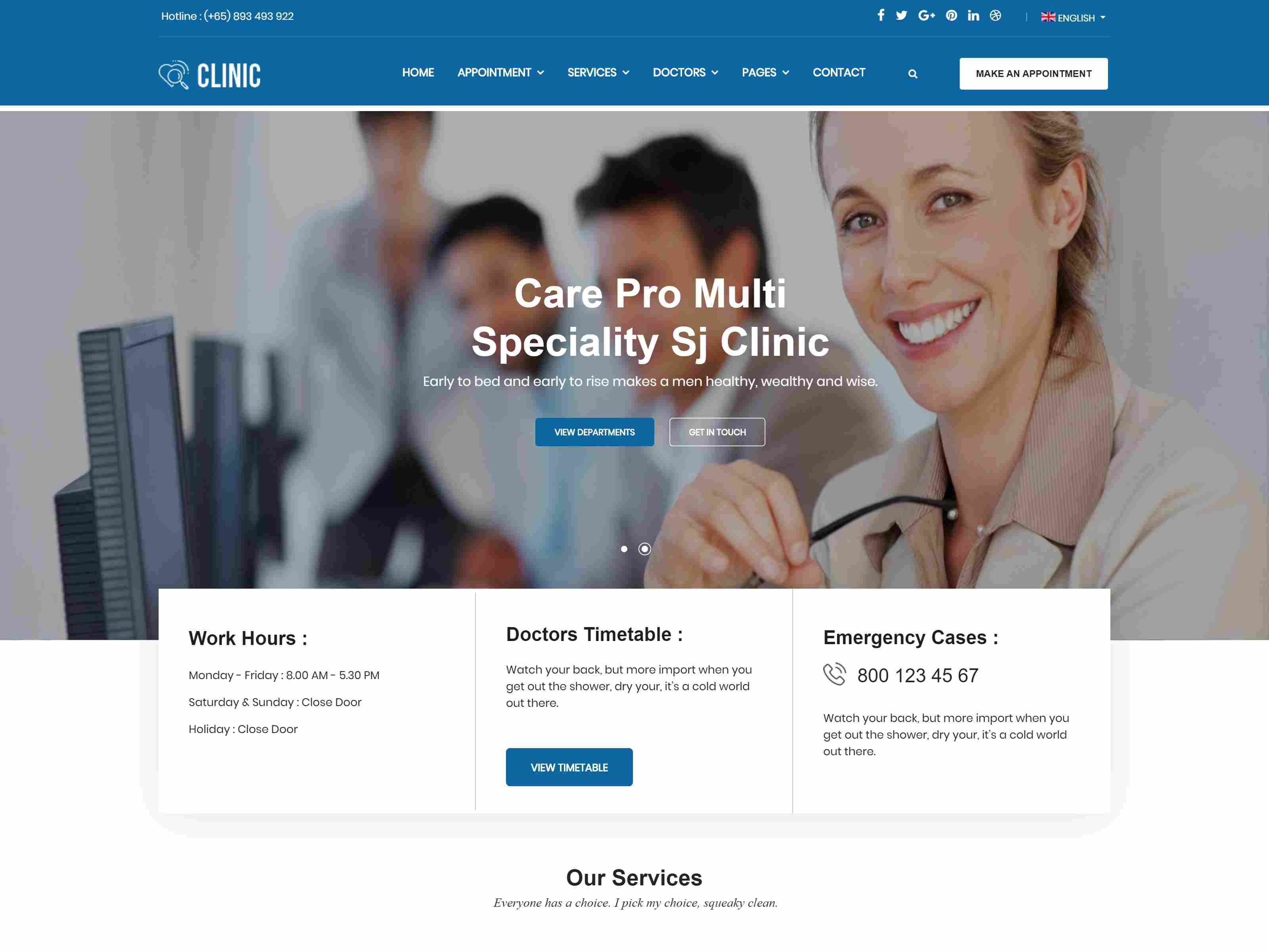 Clinic - Modern Medical & Healthcare Joomla Responsive Template