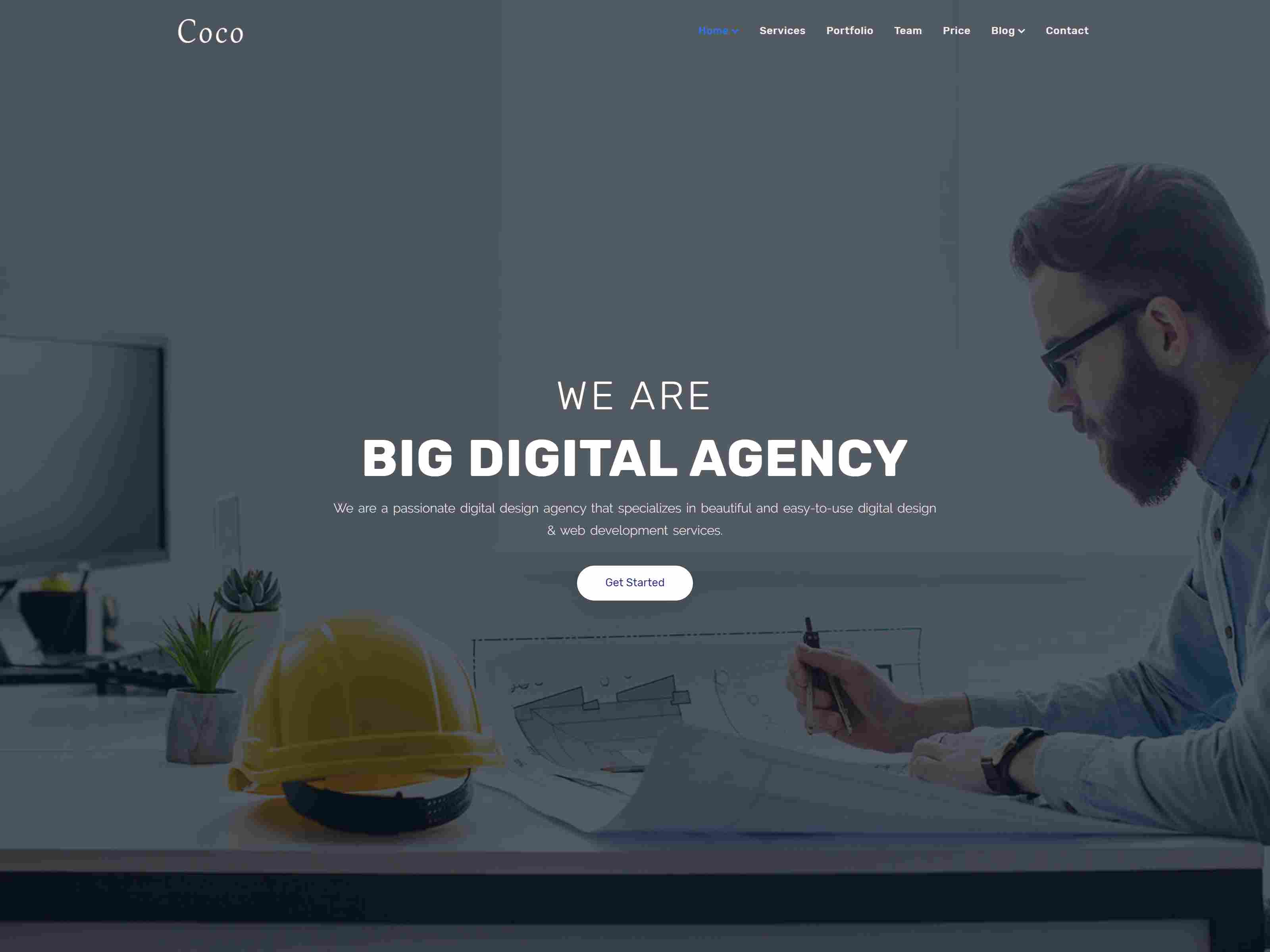 Coco - One Page Parallax Joomla! Theme