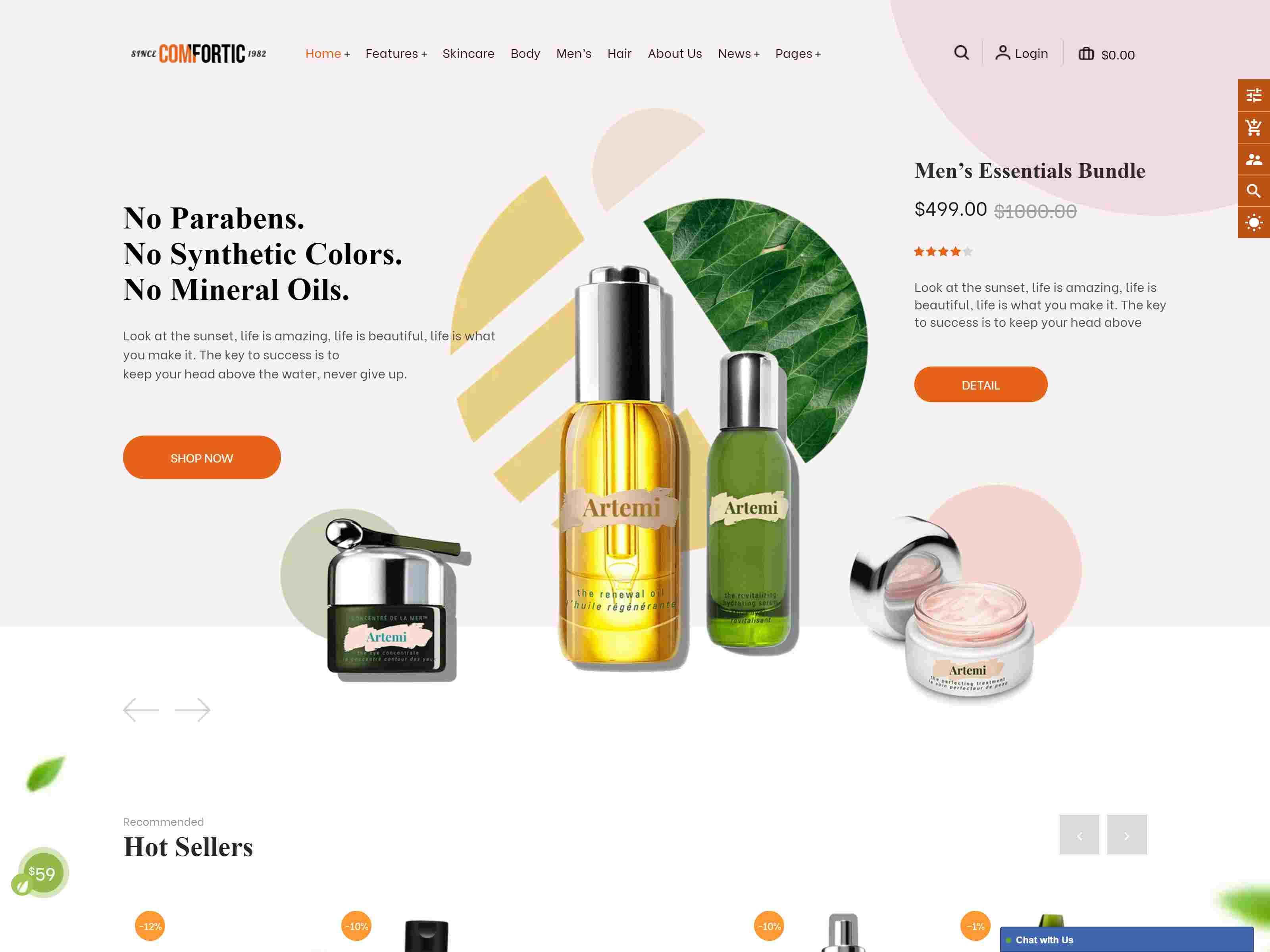 Comfortic - Clean Responsive Beauty and Cosmetic Shopify Theme