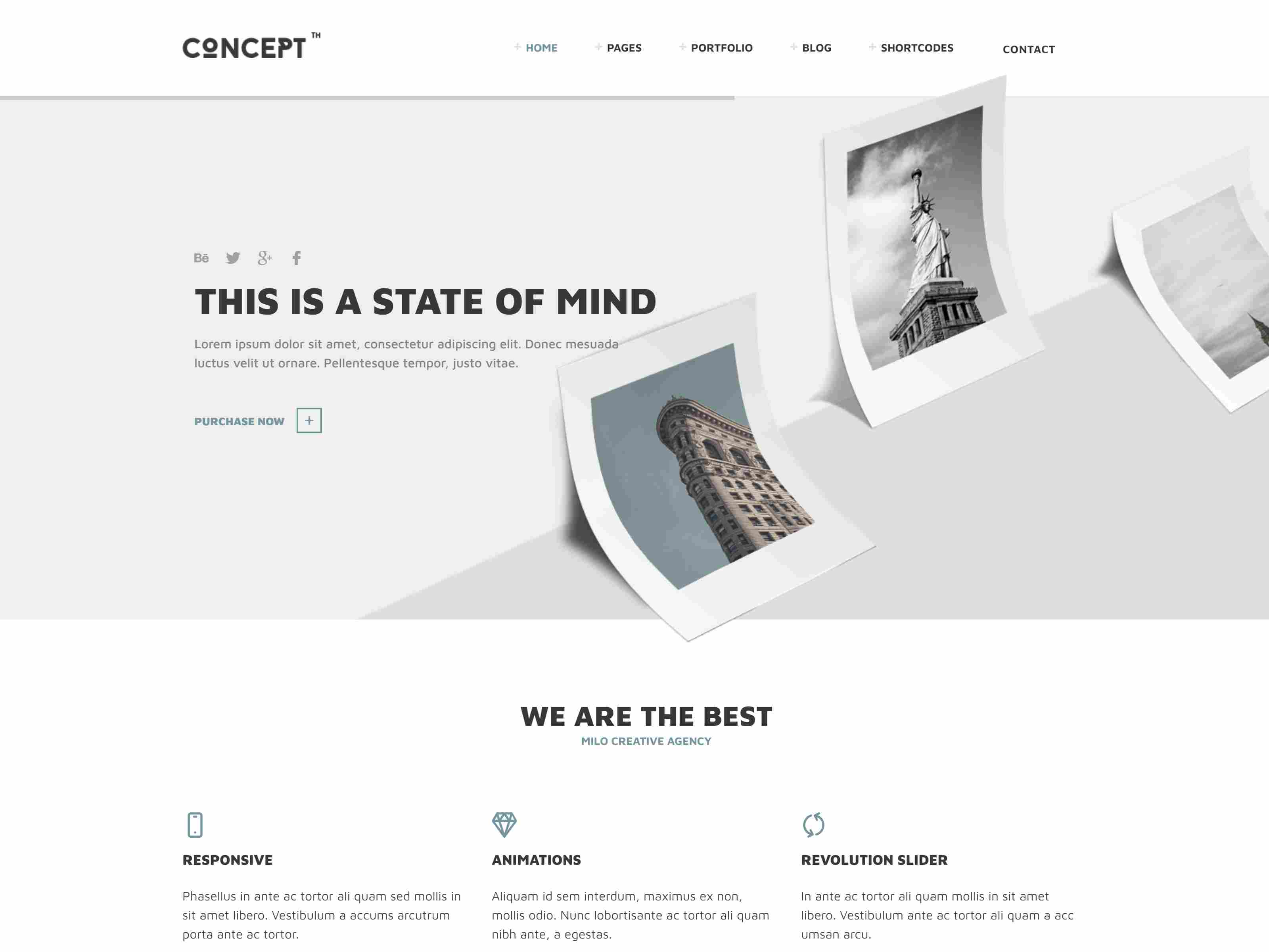 Concept - Design-Driven Multipurpose Joomla Template