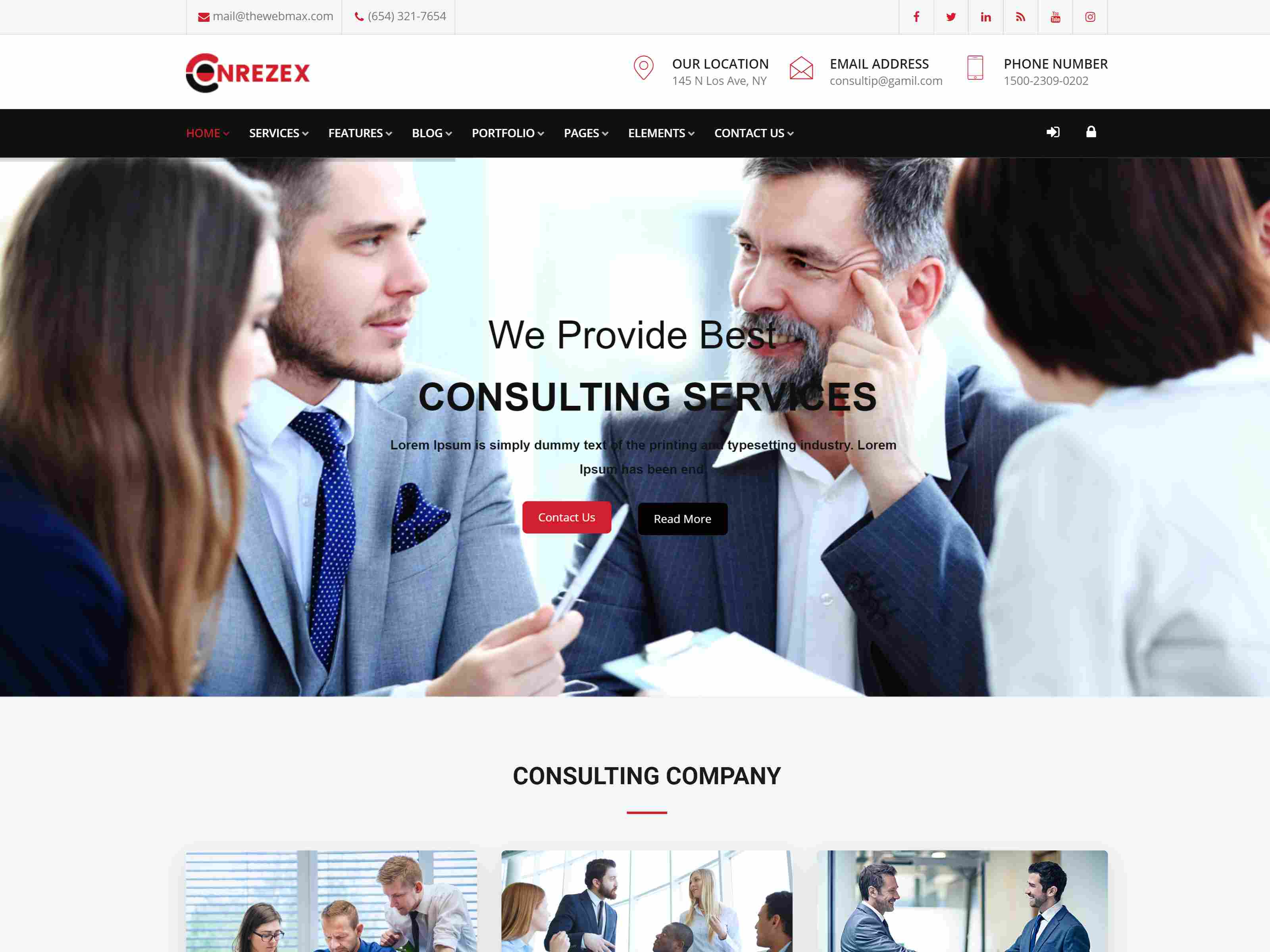 Conrezex – Consultancy & Business Joomla Template