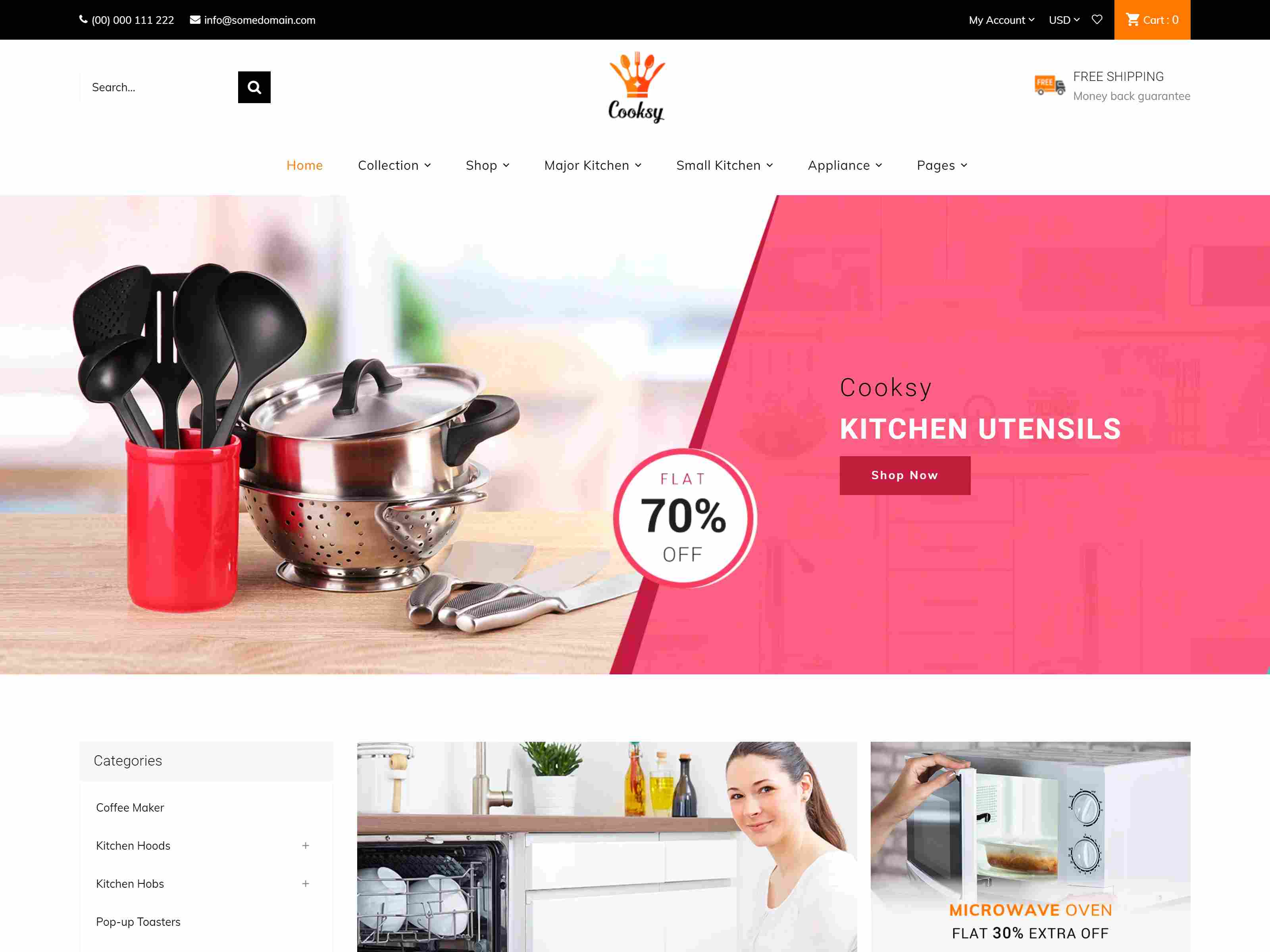 Cooksy - Kitchen Store, Appliances Shopify Theme