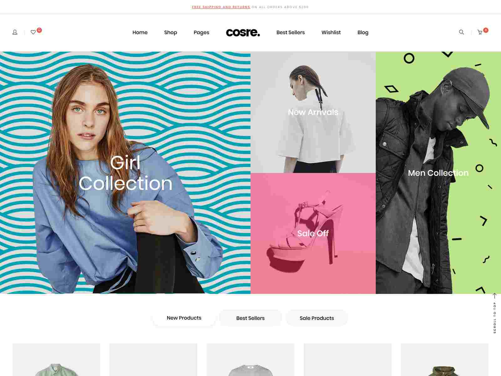 Cosre - Clean, Minimal Responsive Shopify Theme