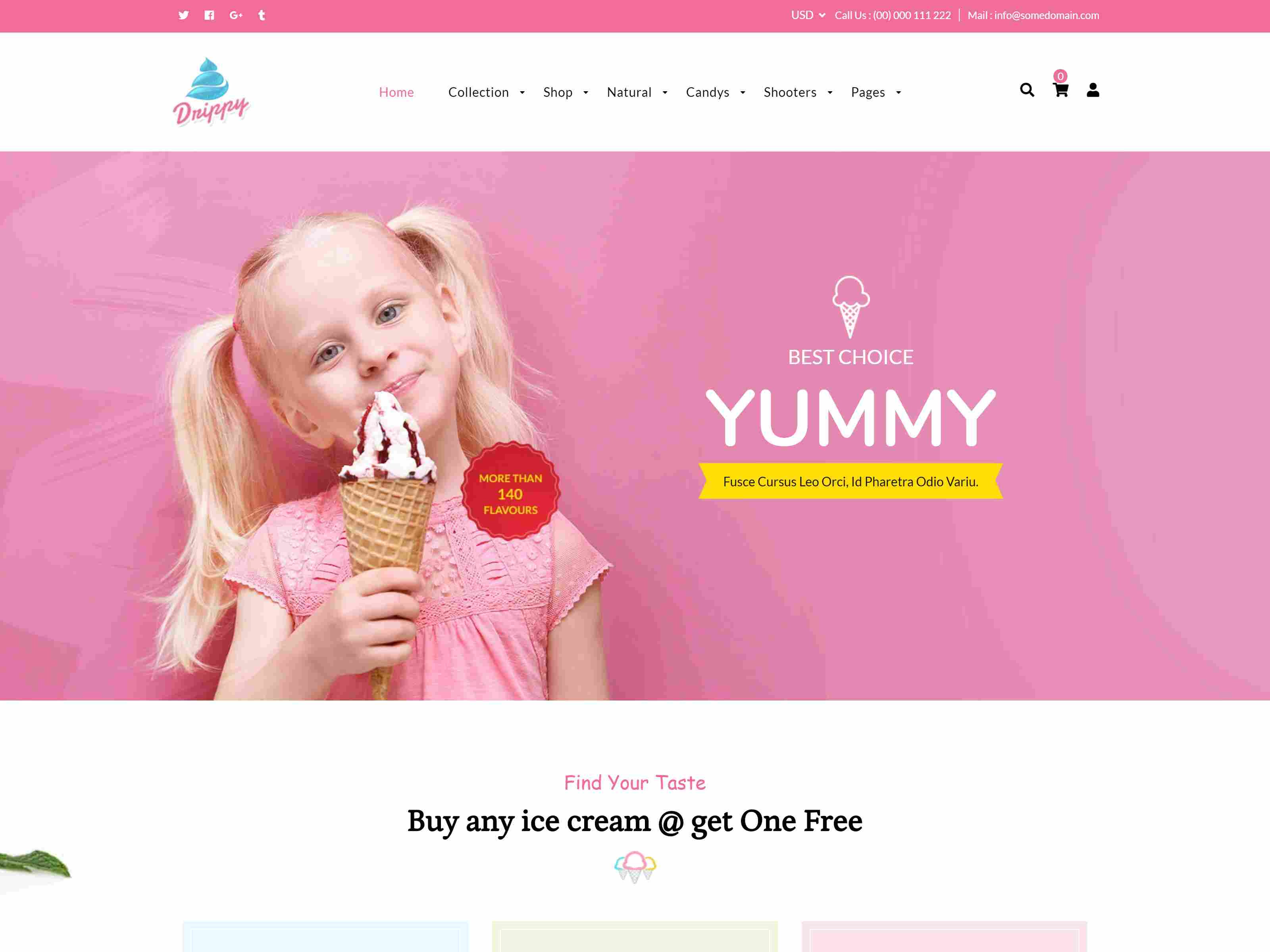 Drippy - Cake Shop, Ice Cream Store Shopify Theme