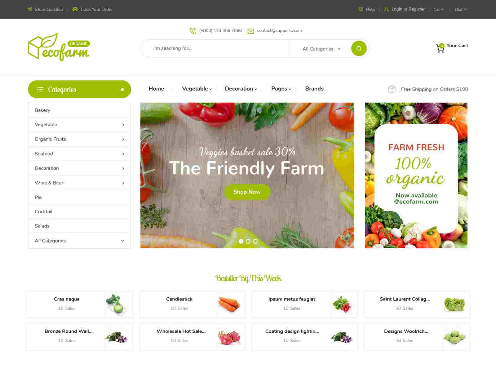 Best Premium Vegetable Magento Themes