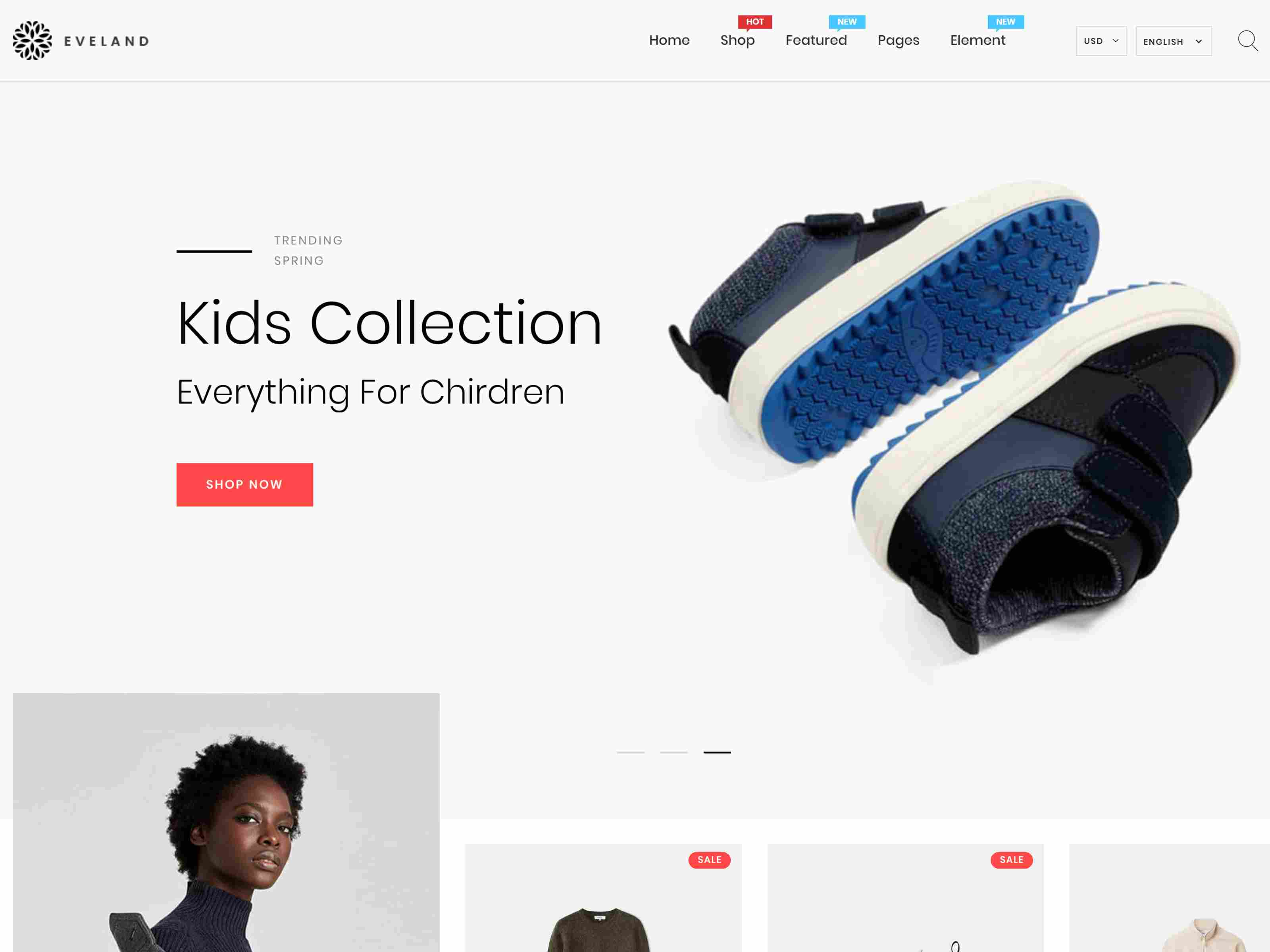 Eveland – Modern AJAX enabled Shopify theme