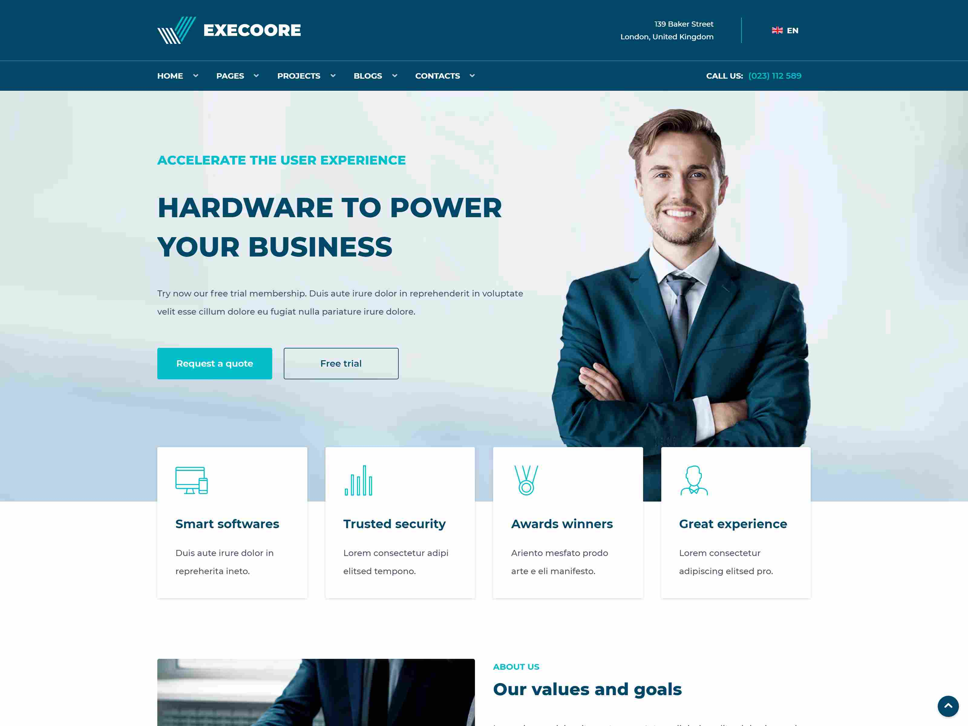 Execoore - Tech And Fintech Business Joomla Template