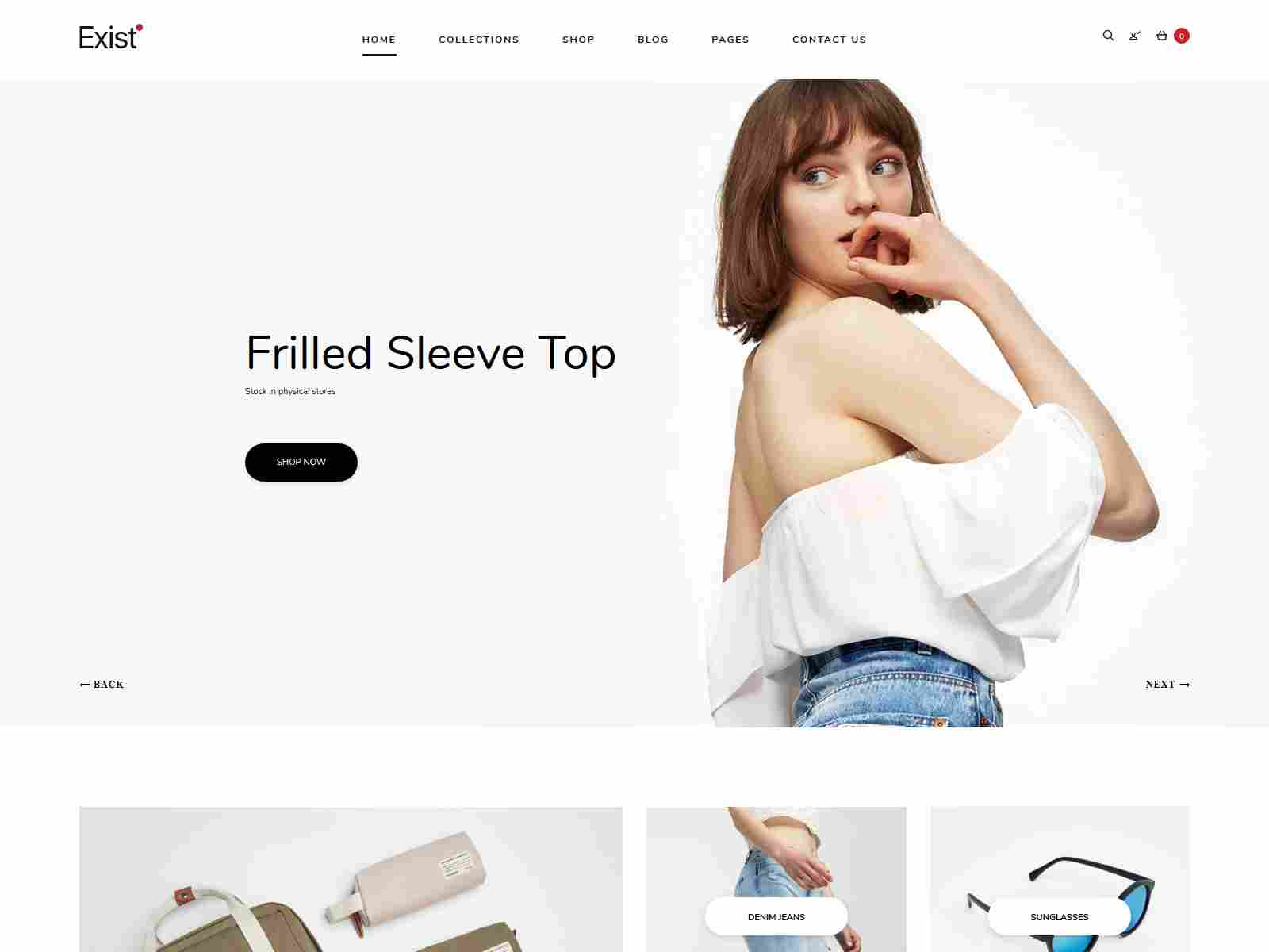 Exist - Drag and Drop Responsive Shopify Theme