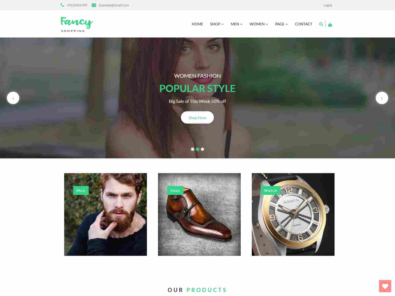 Fancyshop - Responsive & Multipurpose Bootstrap Sectioned Drag & Drop Shopify Theme