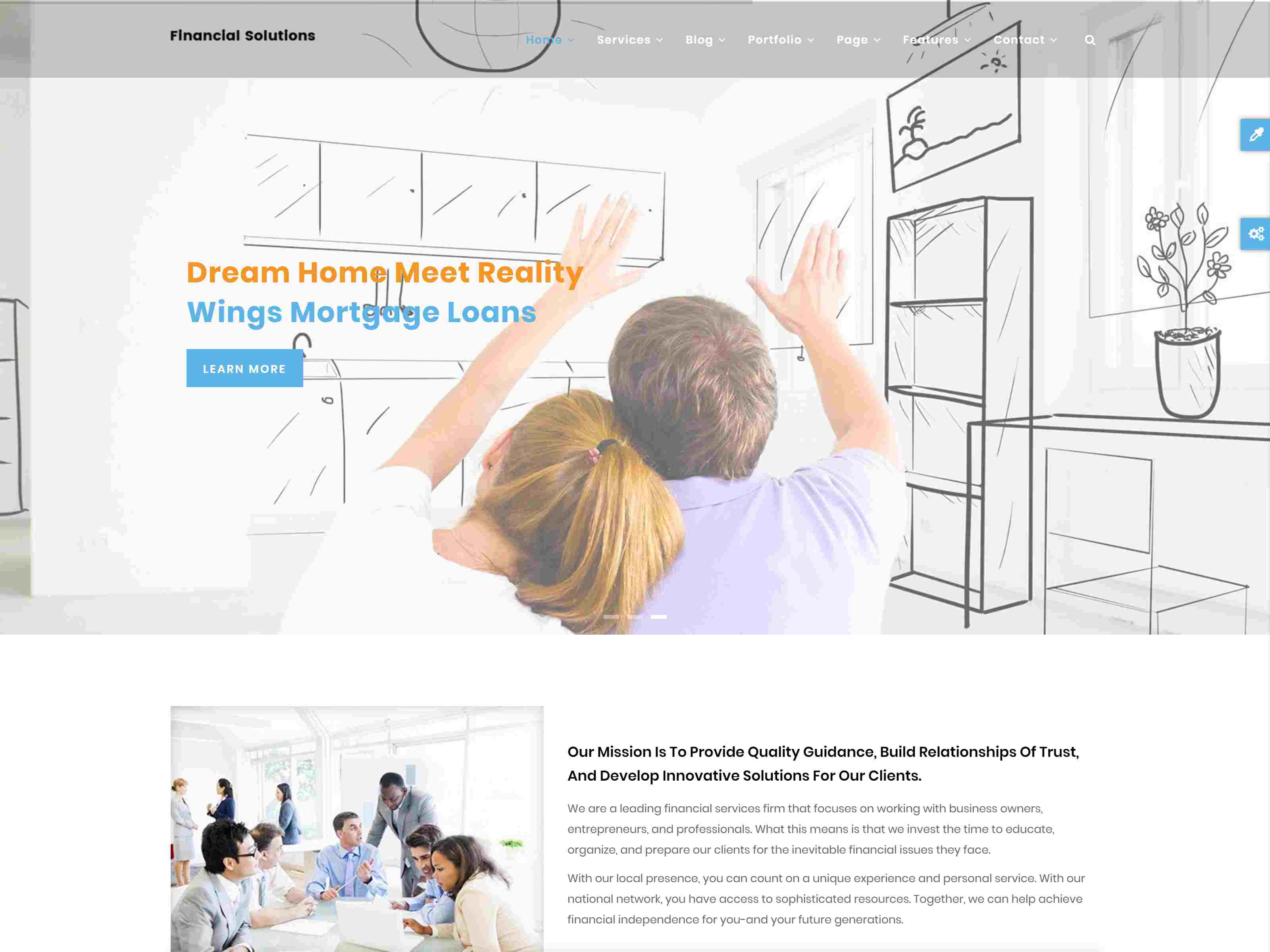 Fi Solutions - Financial & Business Drupal 8.7 Theme