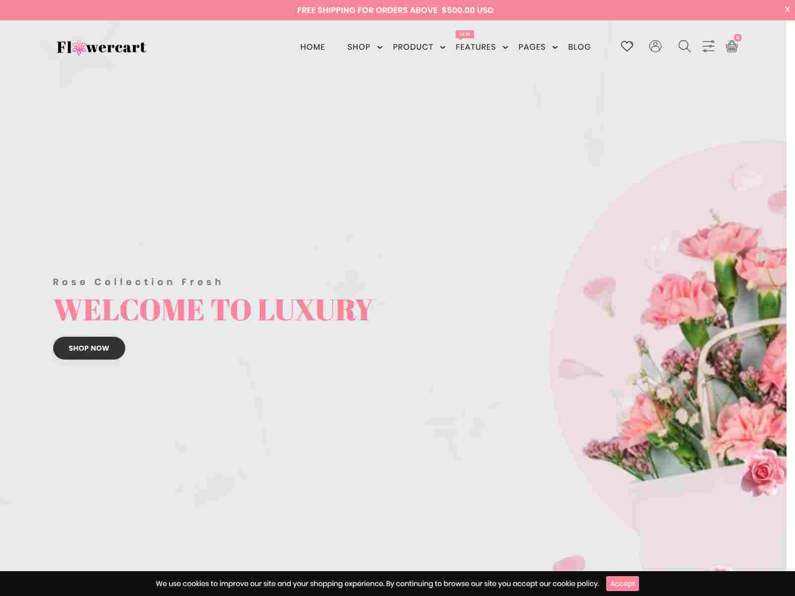 Flowercart - Flower Shop Shopify Theme