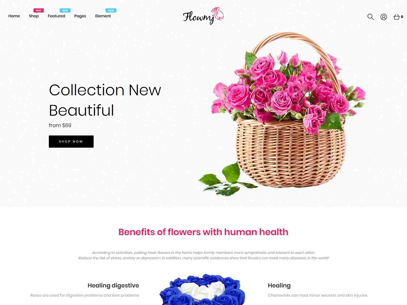 Flowmj - Florist Boutique and  Decoration Store Shopify Theme