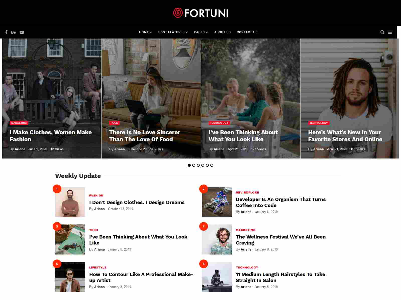 Fortuni - WordPress Blog & Magazine Theme