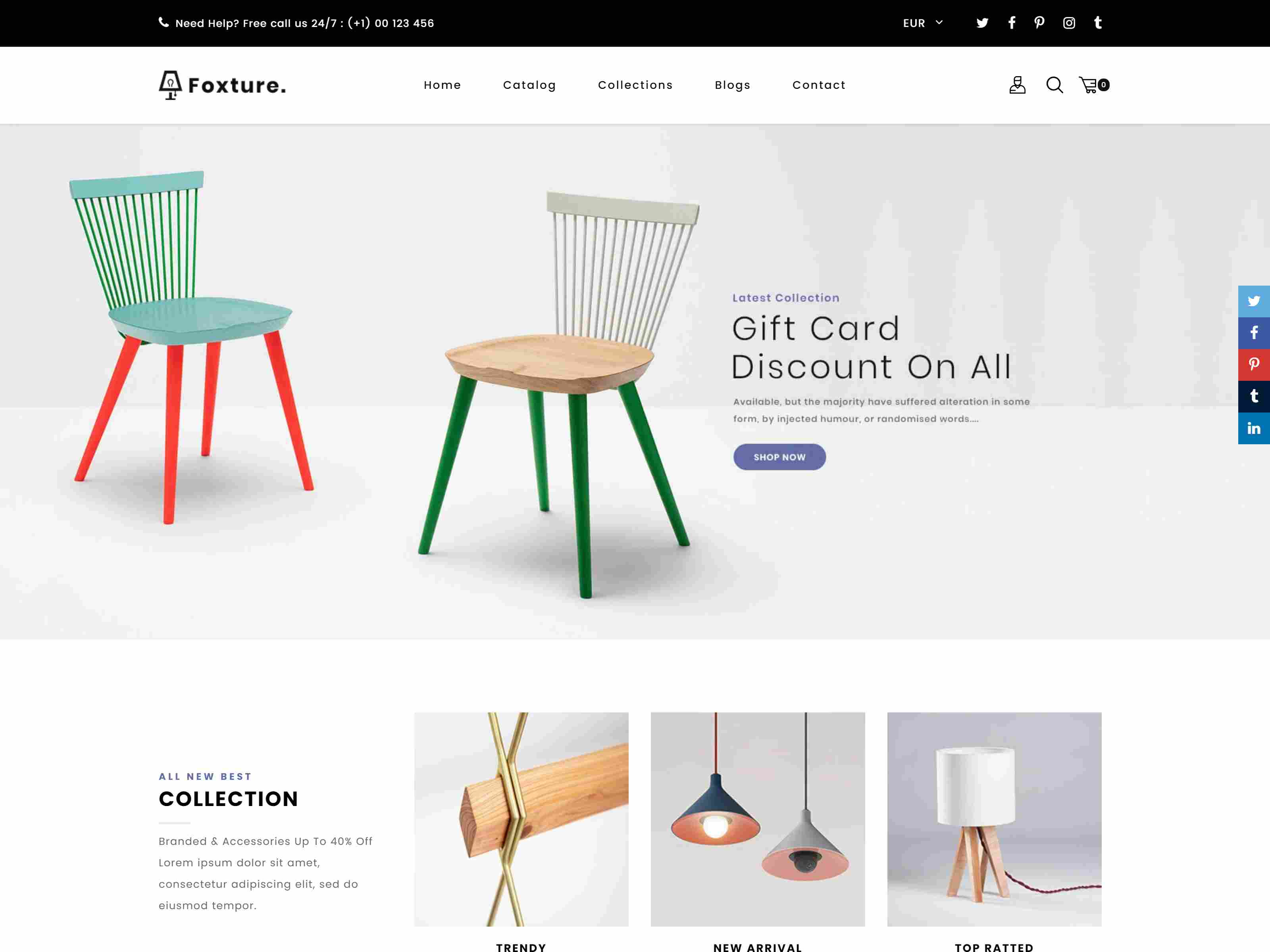 Foxture – Furniture Shopify MultiPurpose Theme