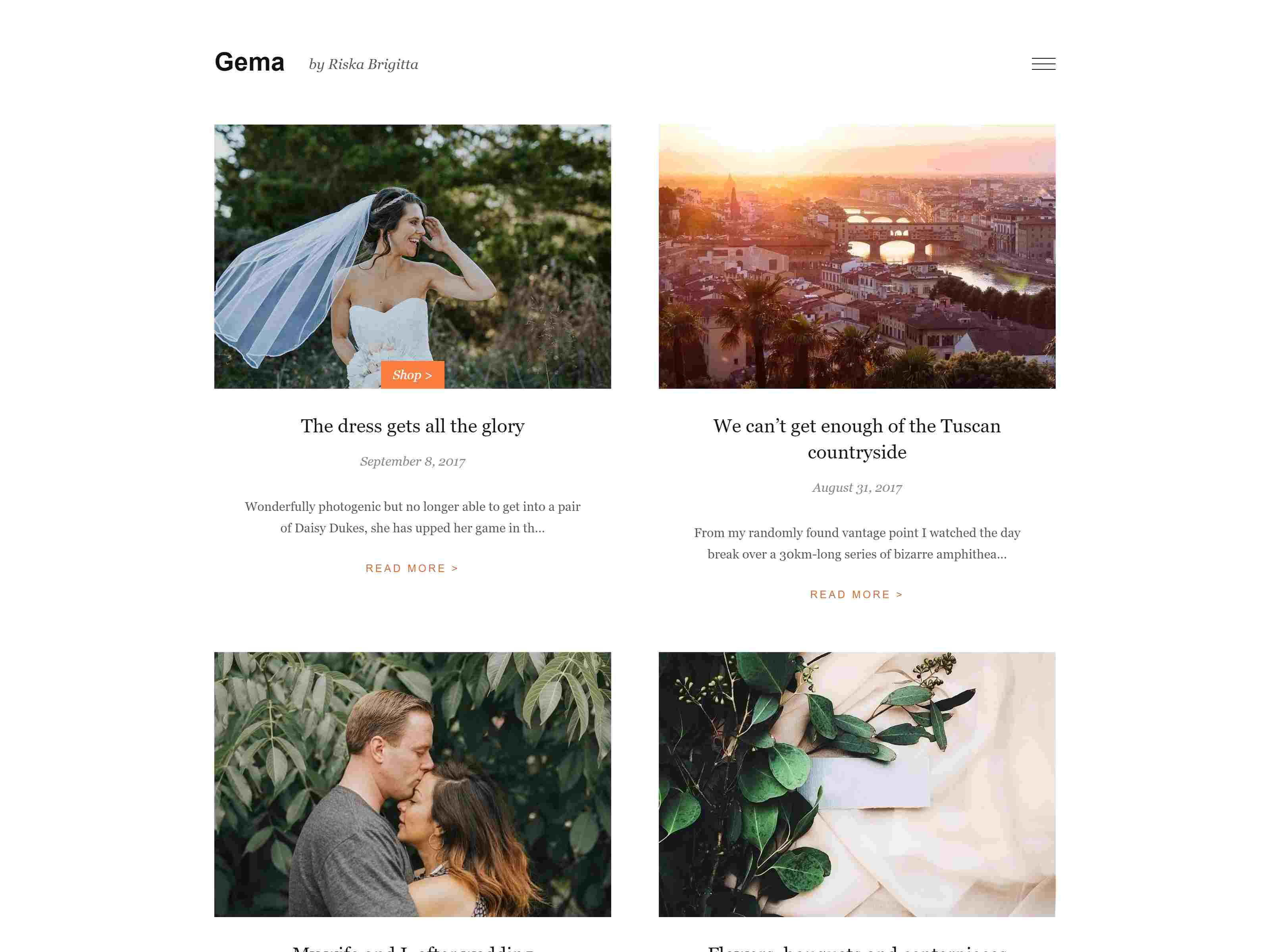 Gema: Theme for Photoblogger