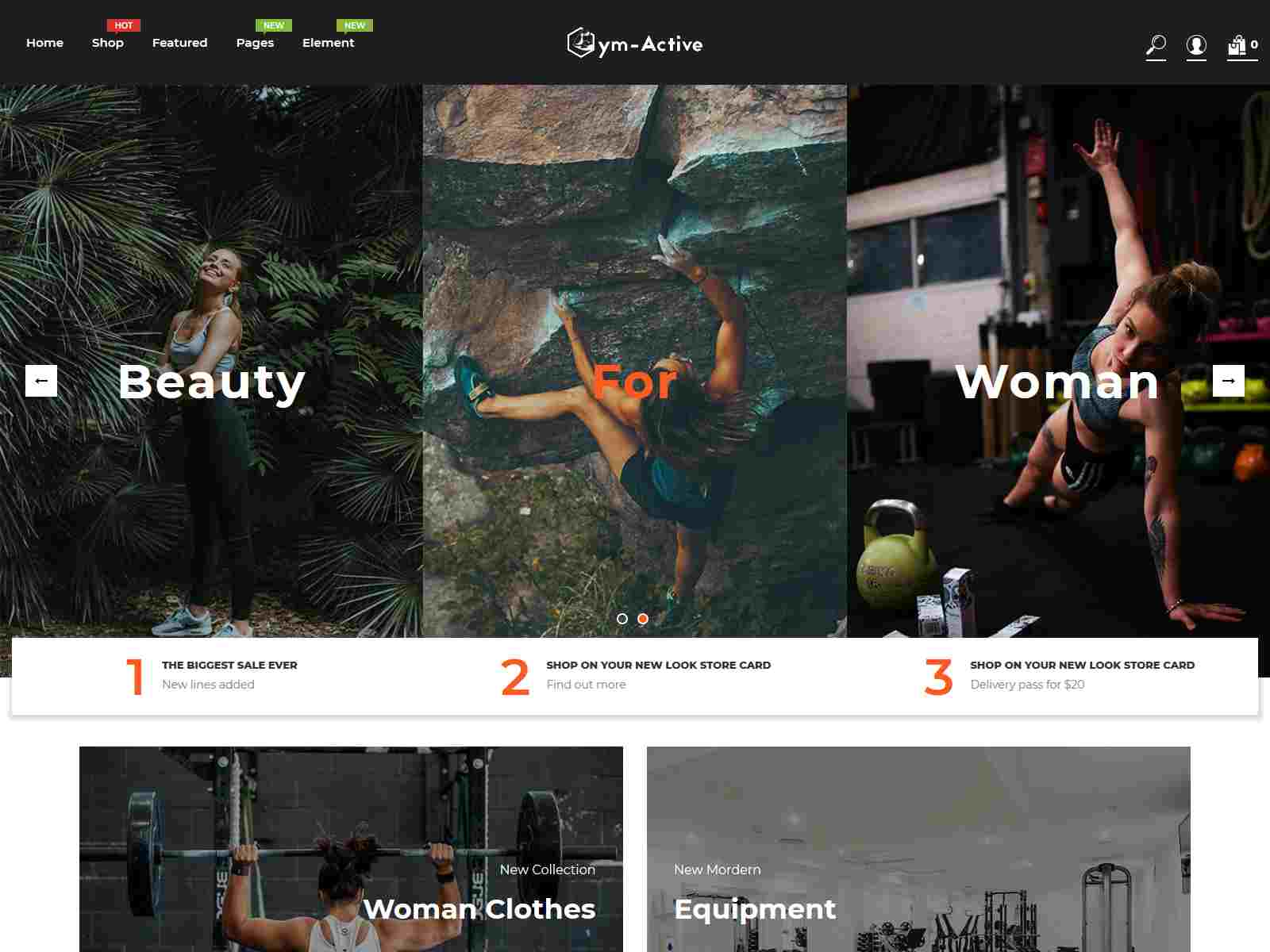 Gym Active - Sports Clothing and  Fitness Equipment Shopify Theme