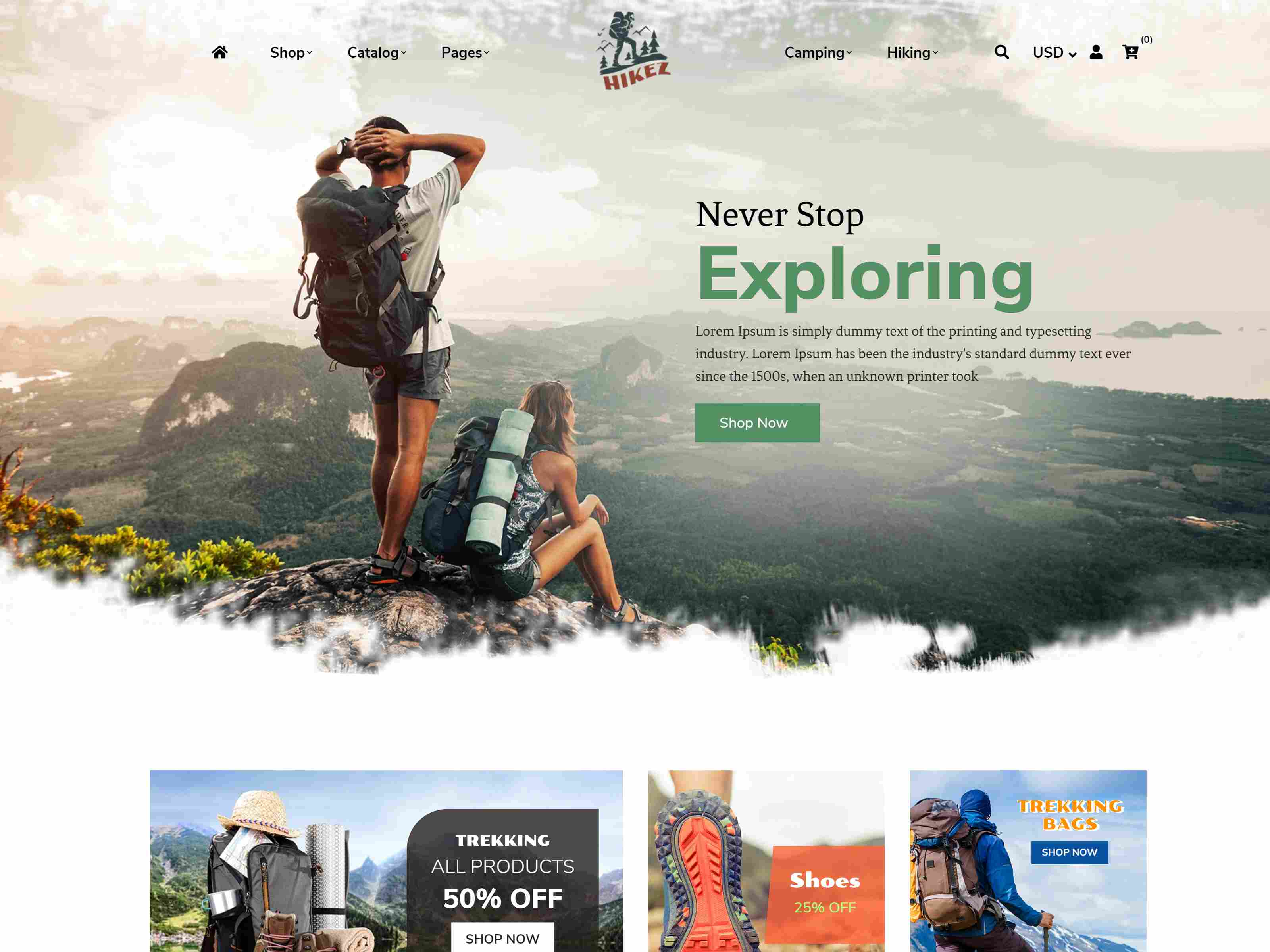Best Premium Hiking Shopify Themes