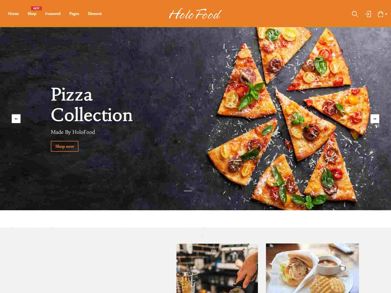 HoloFood - Fast Food and  Restaurant Shopify Theme