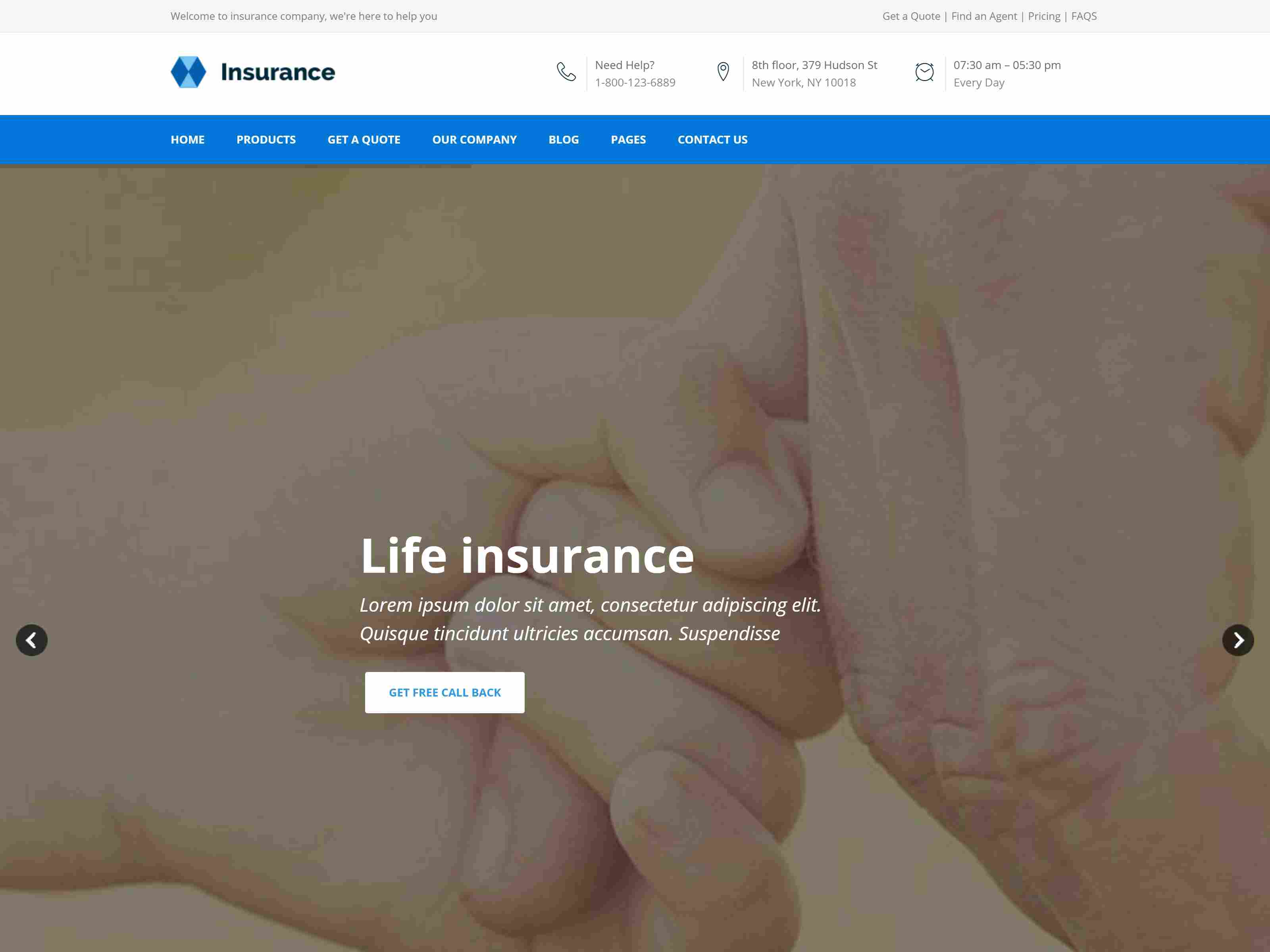 Insurance - Responsive Business Joomla Template