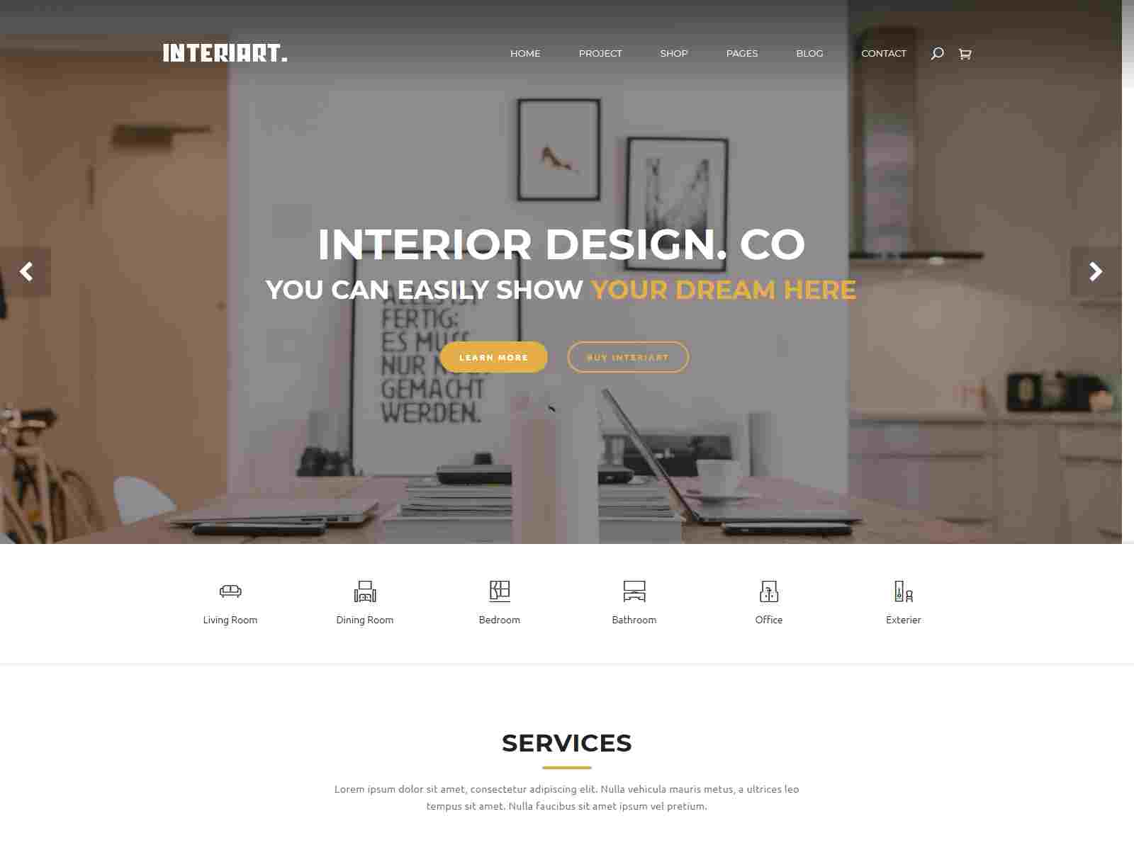 InteriArt - Furniture and Interior Joomla Template