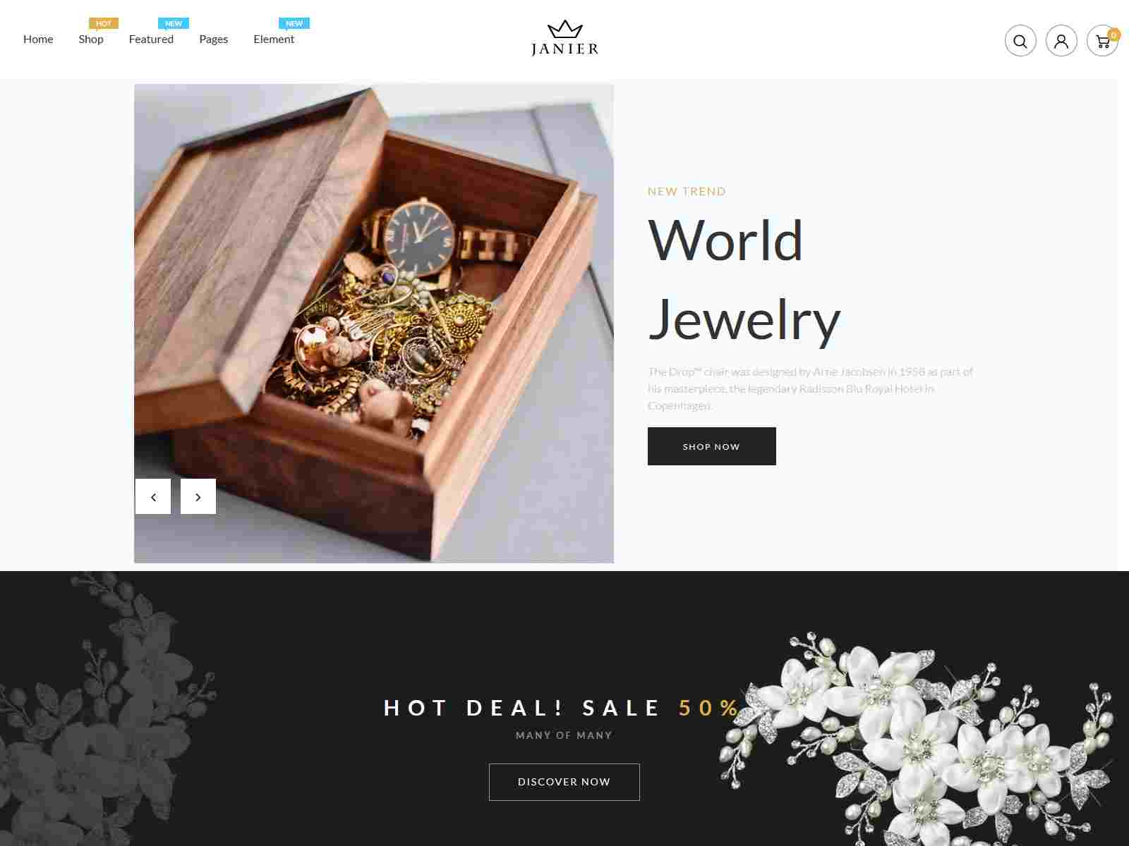 Janier - Jewelry and Accessories Responsive Shopify Theme Jewelry Shop Shopify Theme