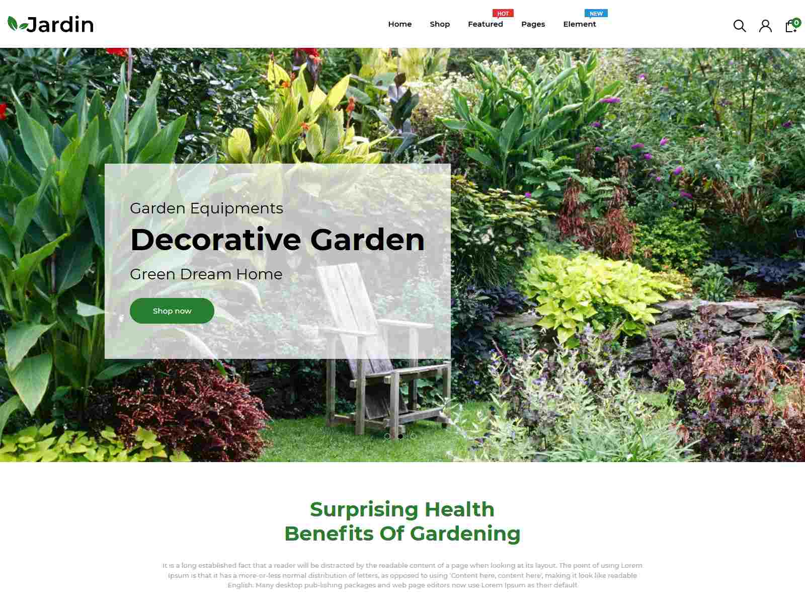 Jardin - Gardeningand Houseplants Equipment Responsive Shopify Theme