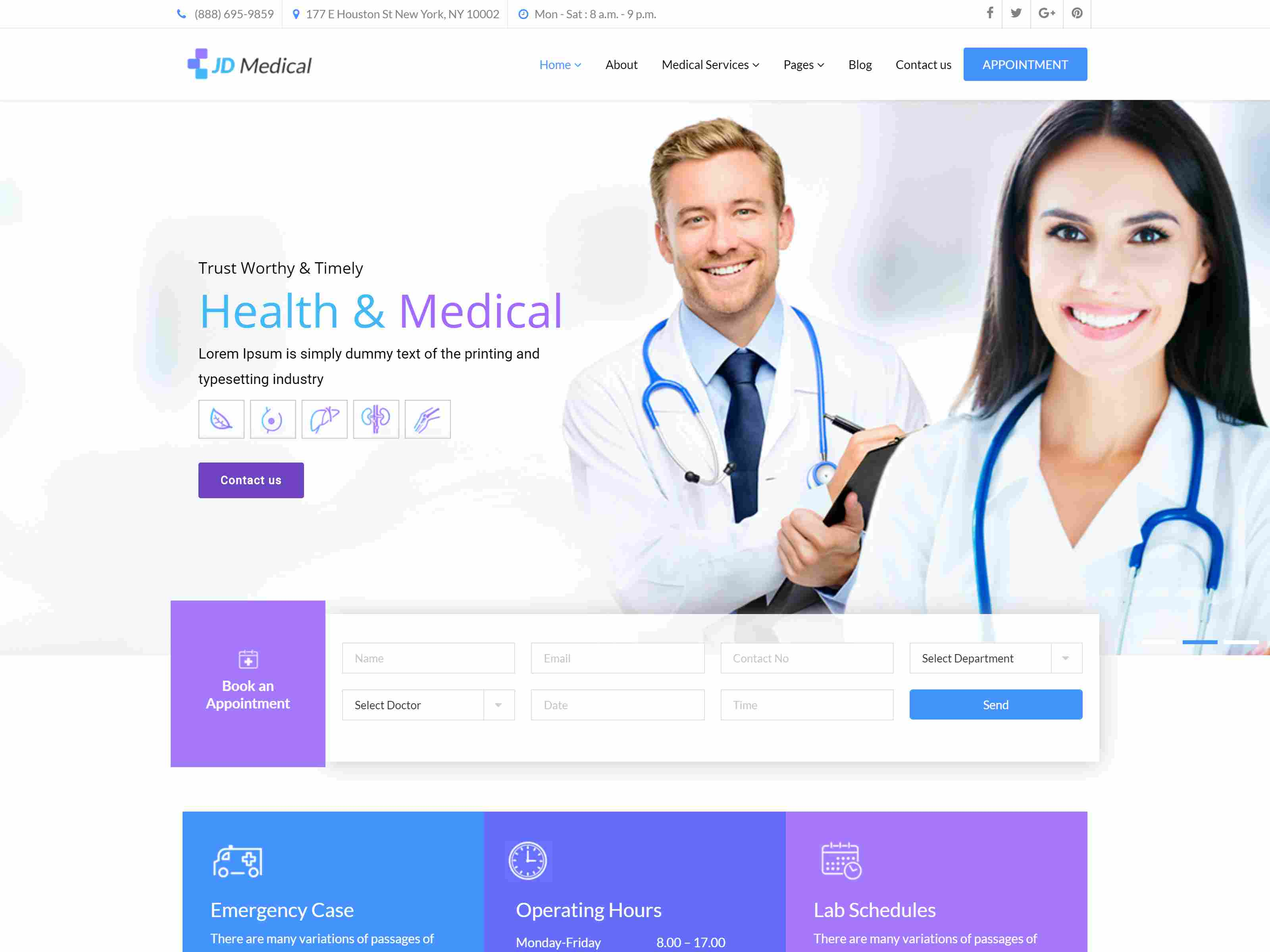 JD Medical - Responsive Healthcare Joomla Template